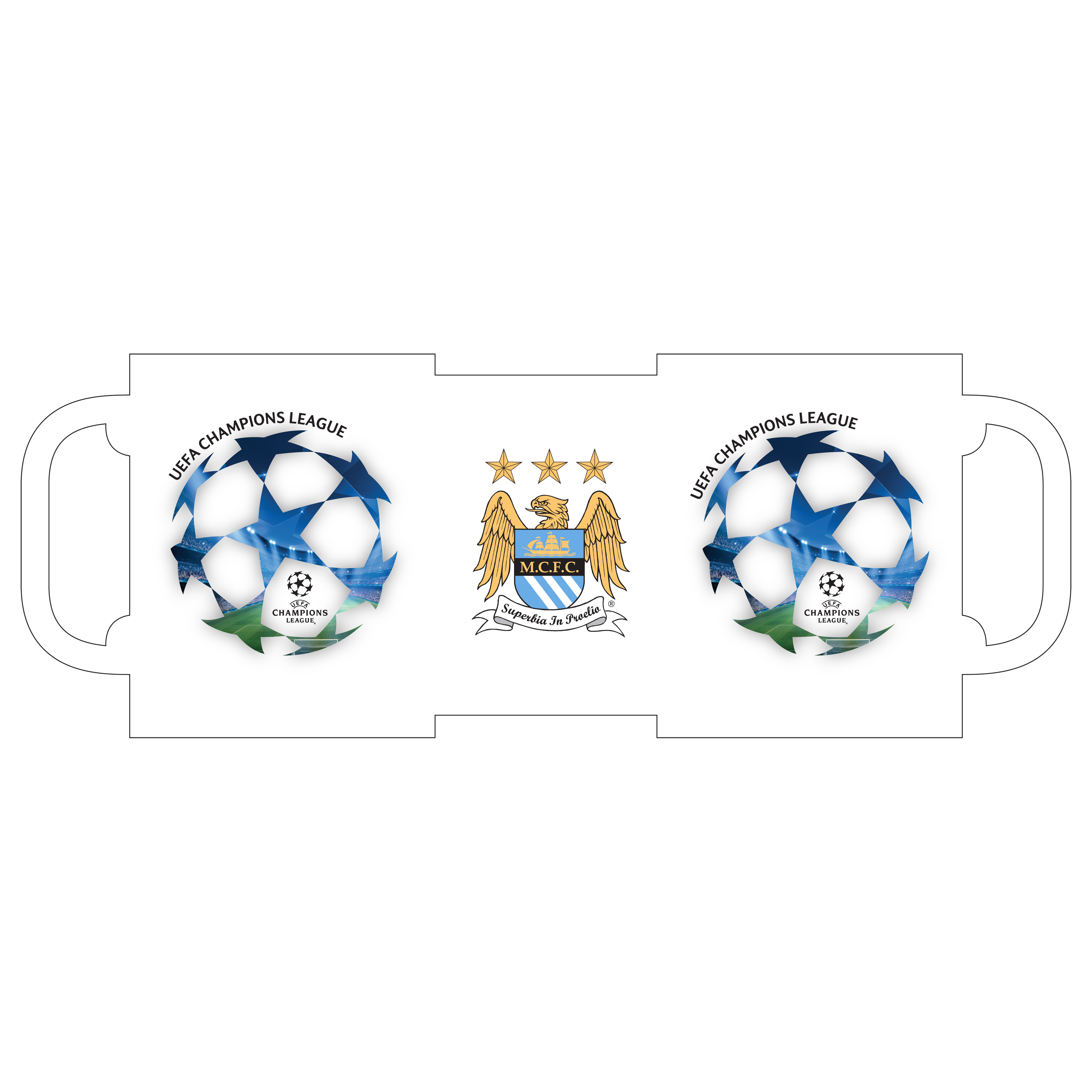 Manchester City Champions League 11oz Mug