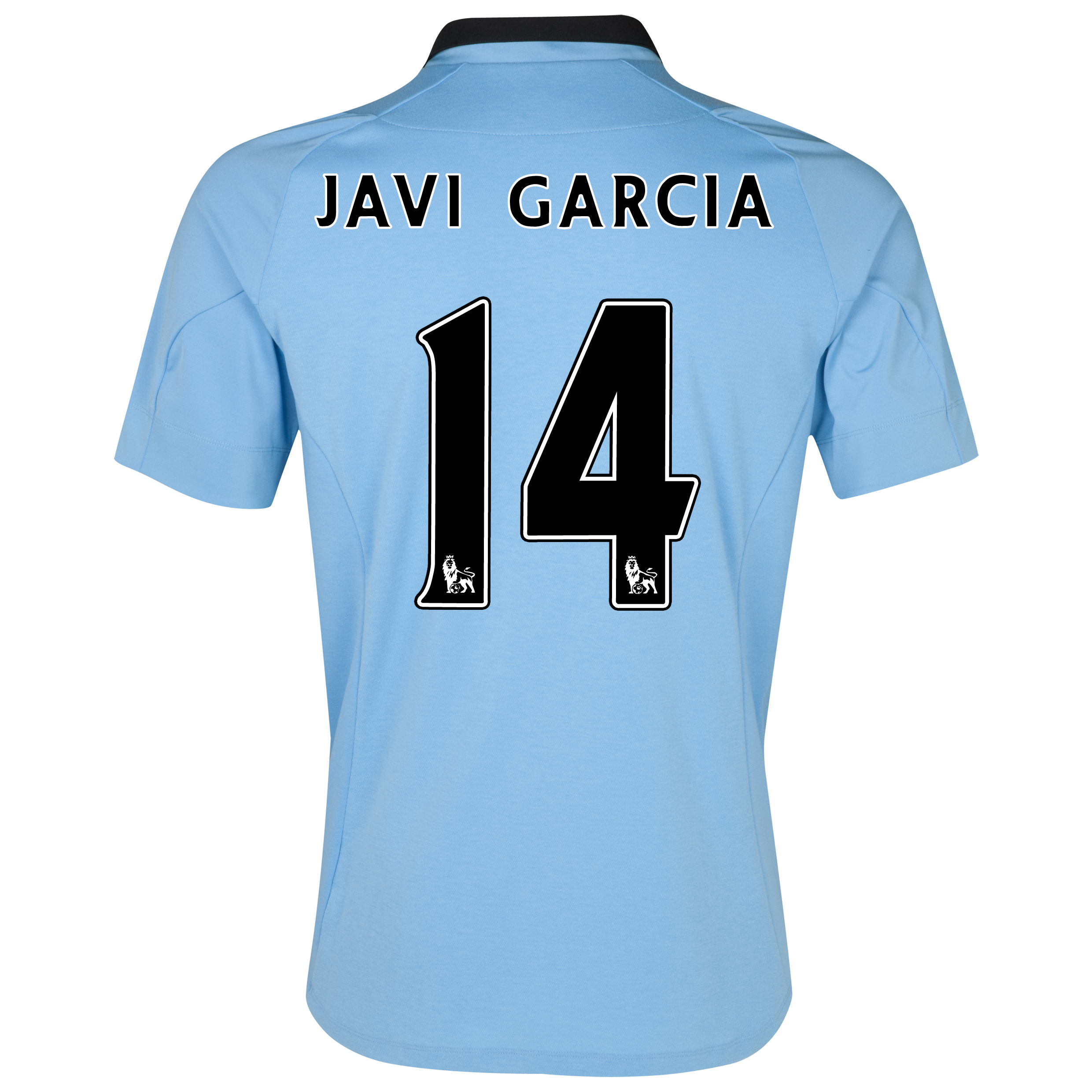 Manchester City Home Shirt 2012/13 with Javi Garcia 14 printing