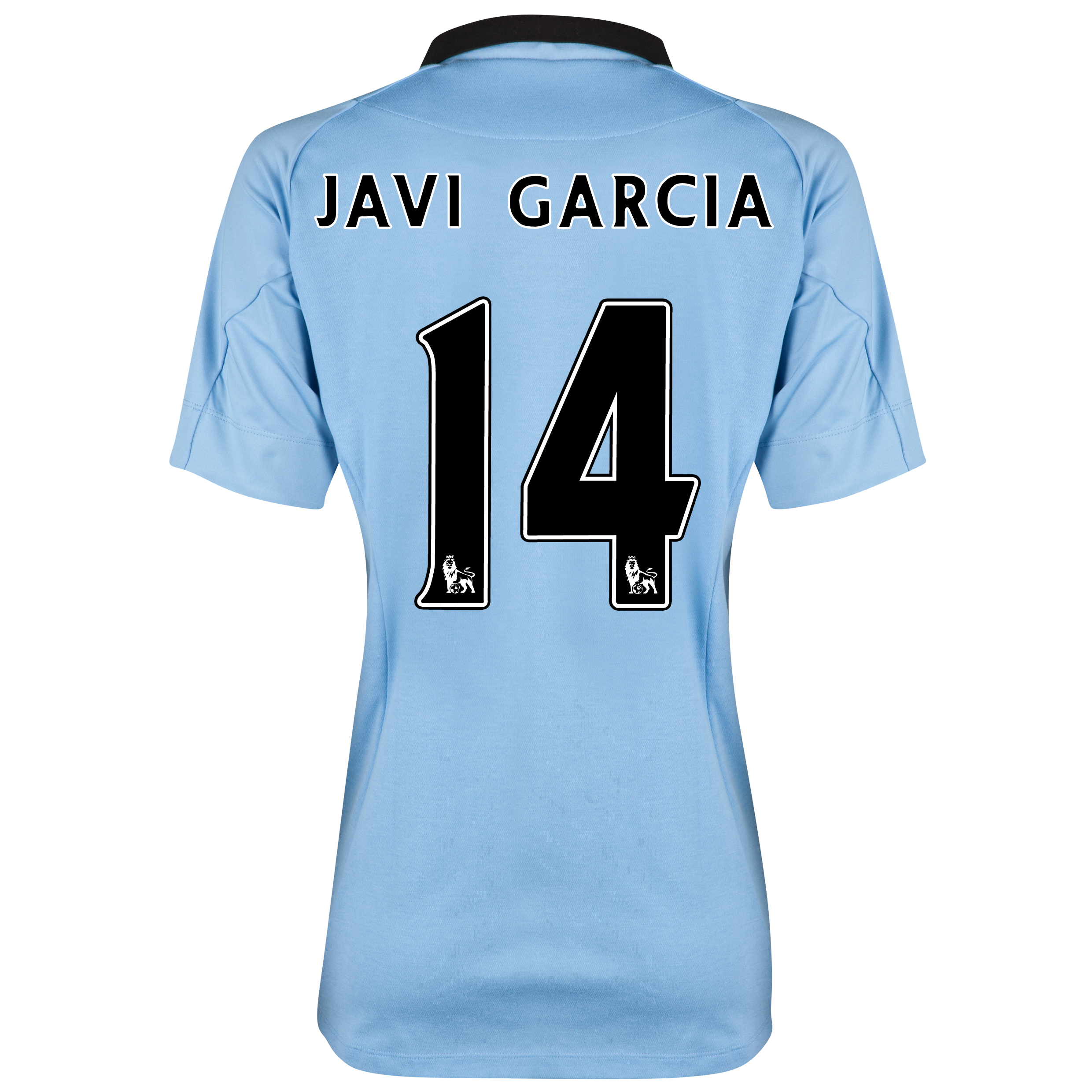 Manchester City Home Shirt 2012/13 - Womens with Javi Garcia 14 printing