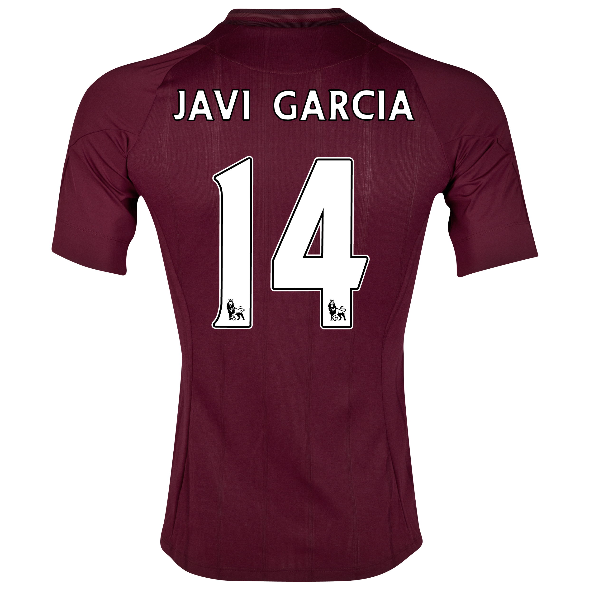 Manchester City Away Shirt 2012/13  - Junior with Javi Garcia 14 printing