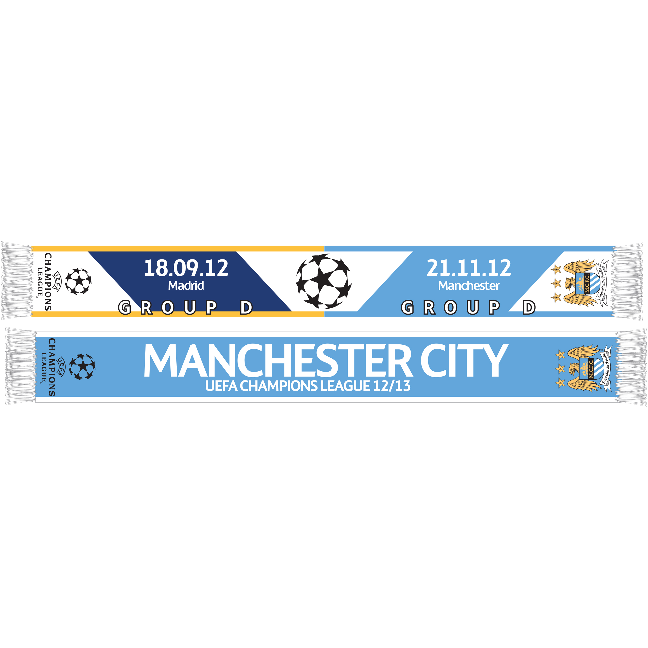 Manchester City Champions League Friendship Scarf - Real Madrid