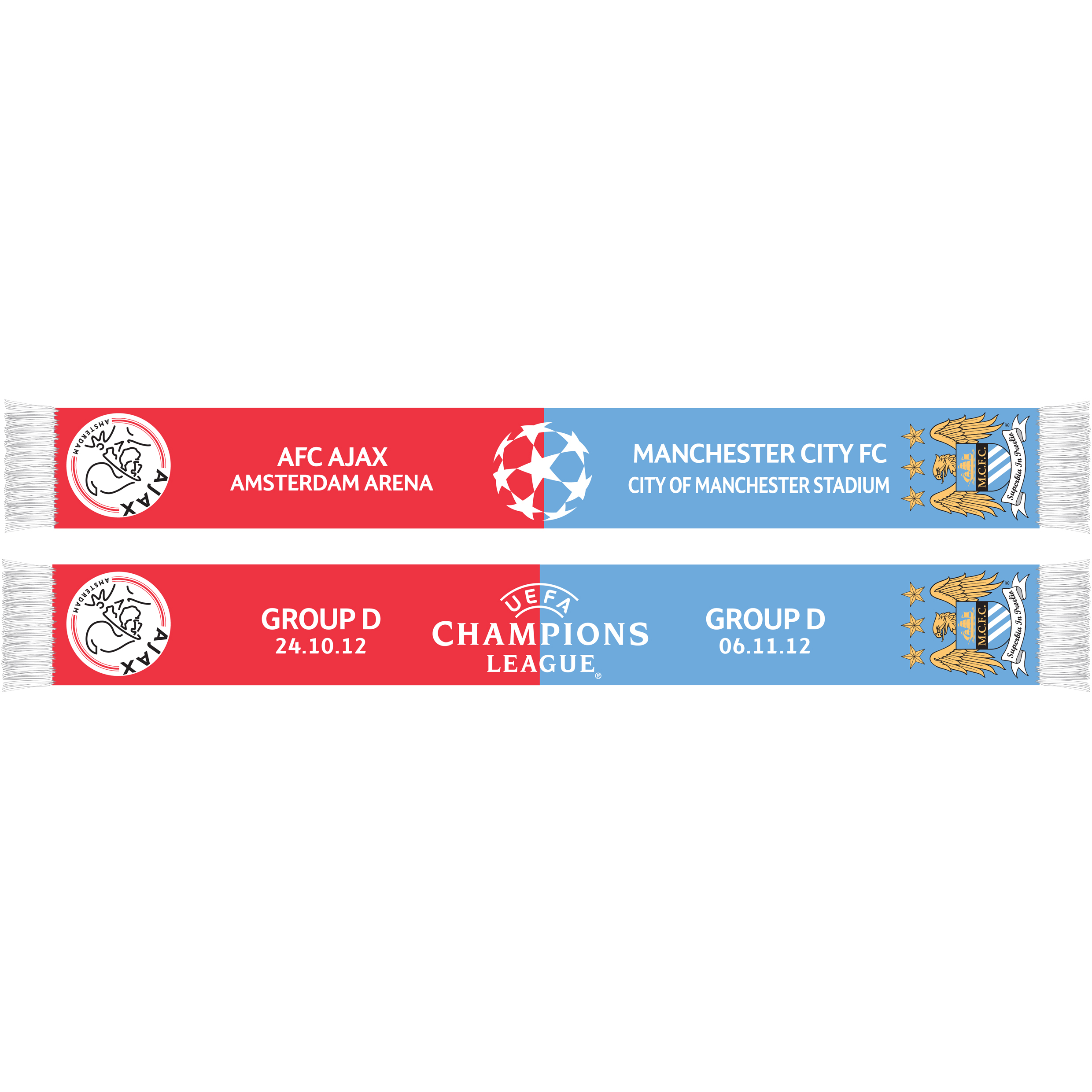Manchester City Champions League Friendship Scarf - Ajax