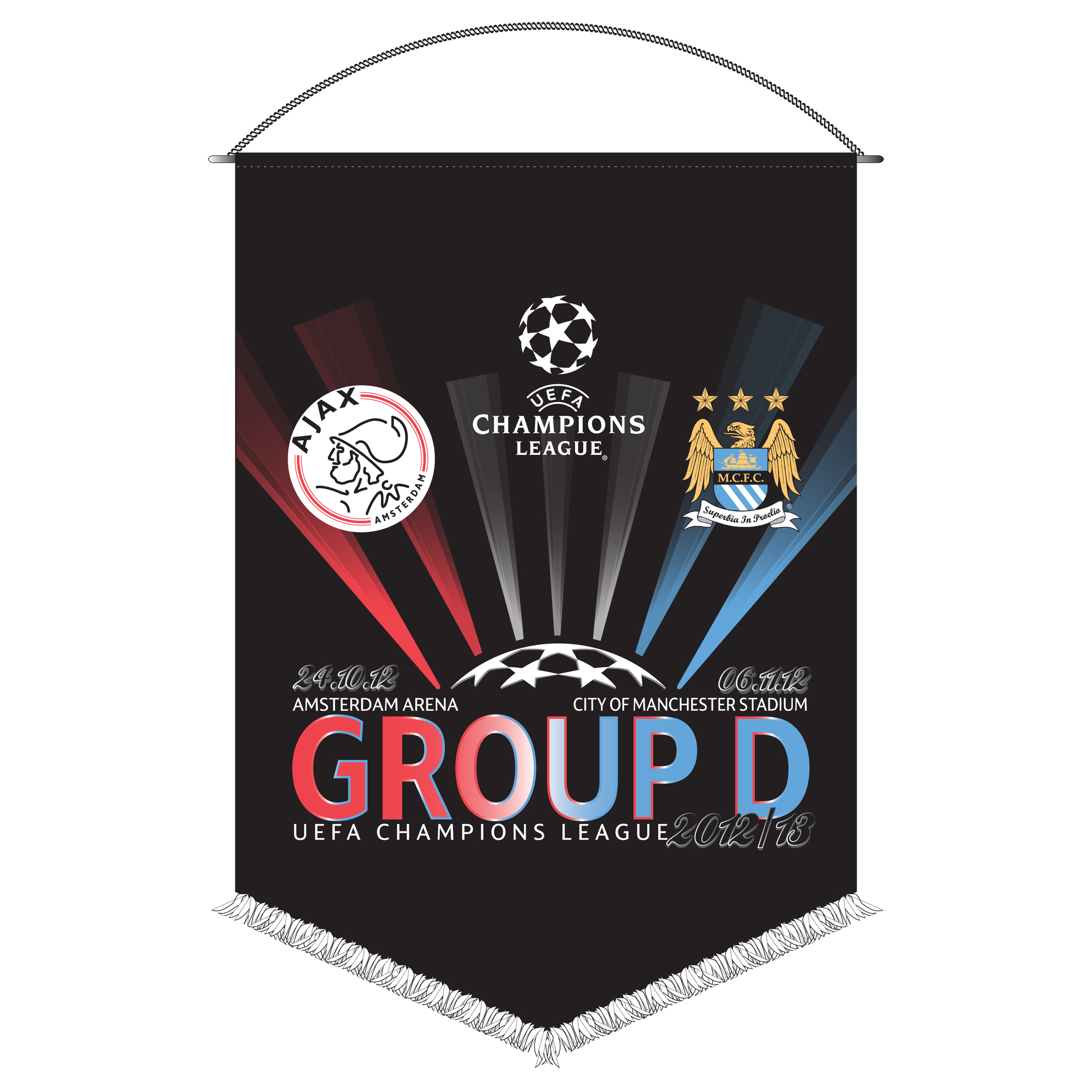 Manchester City Champions League Friendship Pennant - Ajax