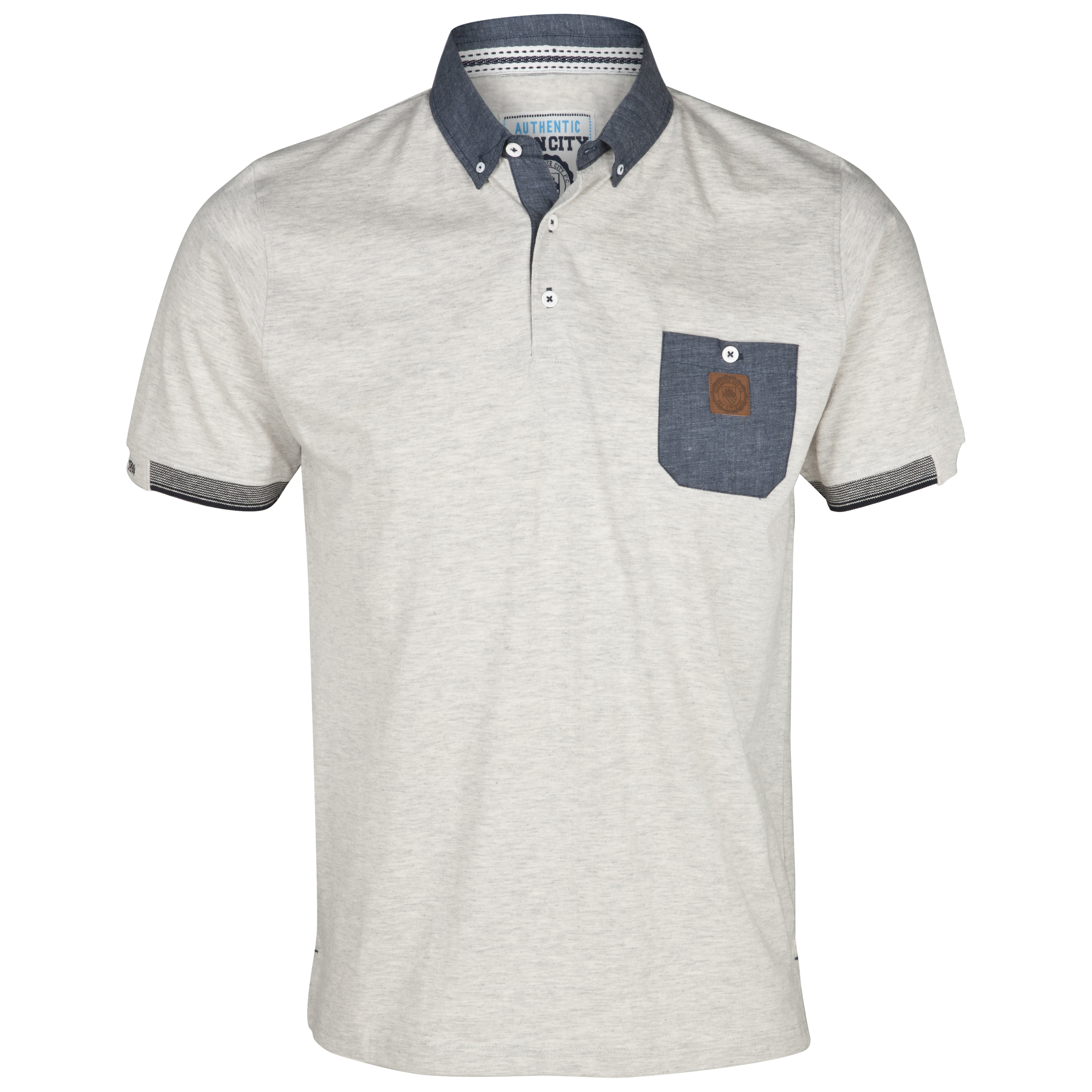 Manchester City Deck Polo Top - Ecru Marl