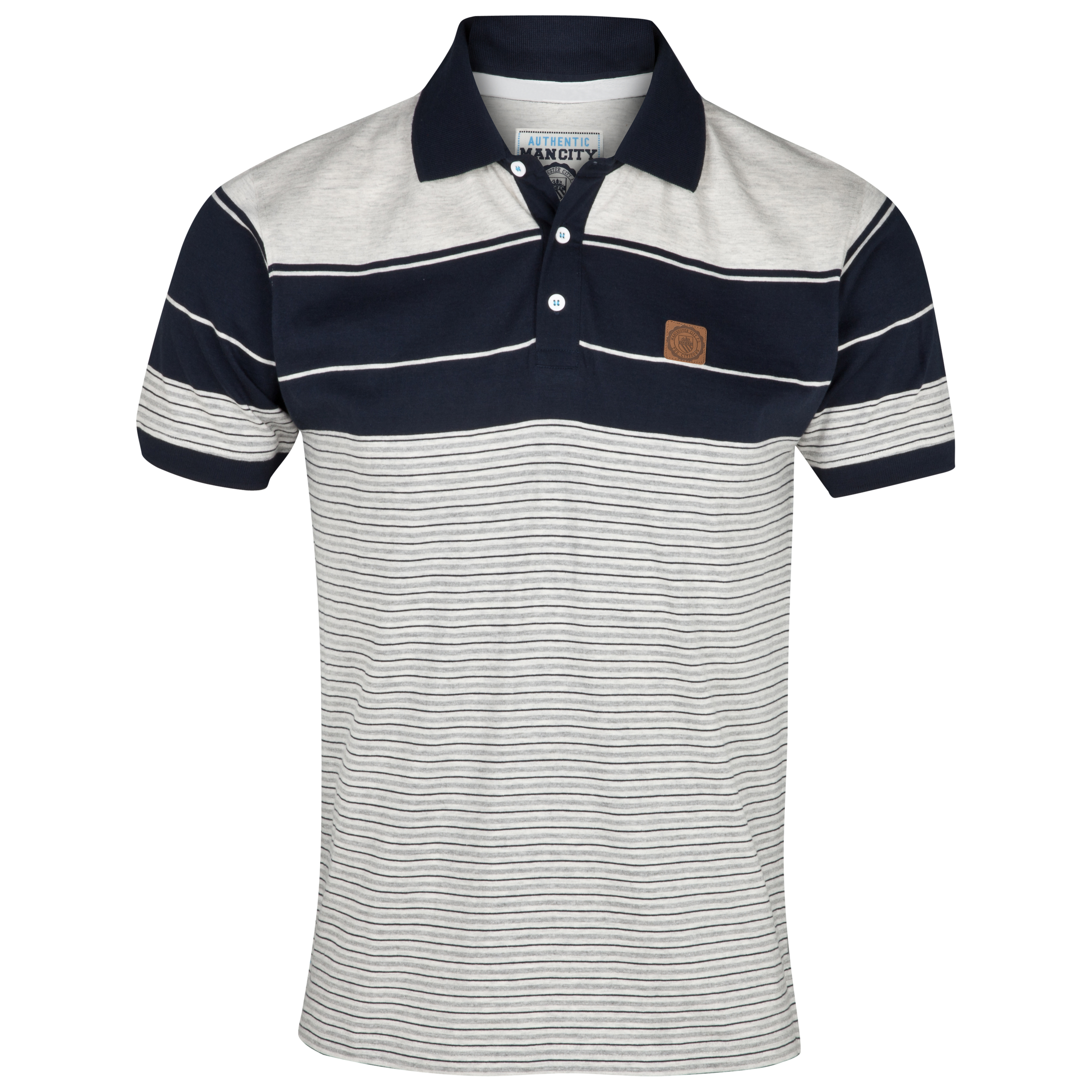 Manchester City Tide Polo Top - Navy/Ecru Marl