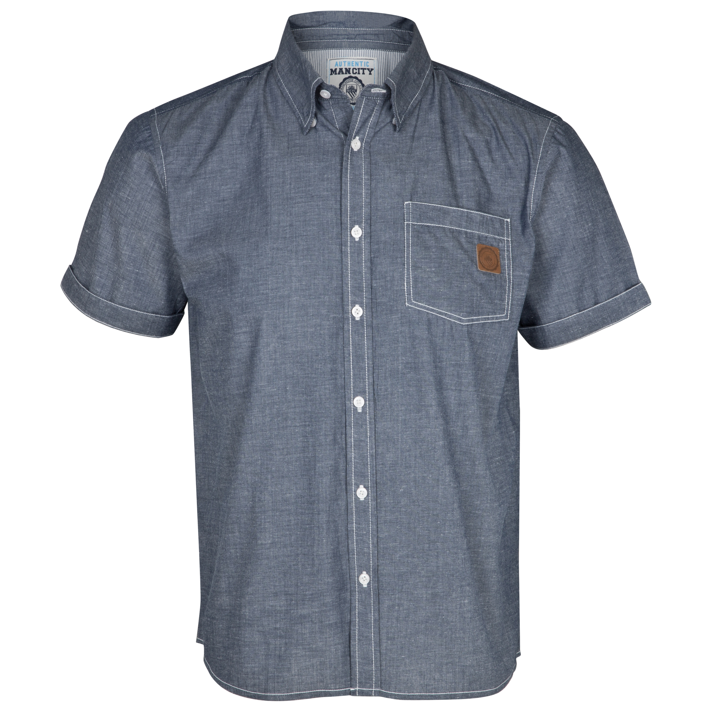 Manchester City Chambray Shirt - Light Blue