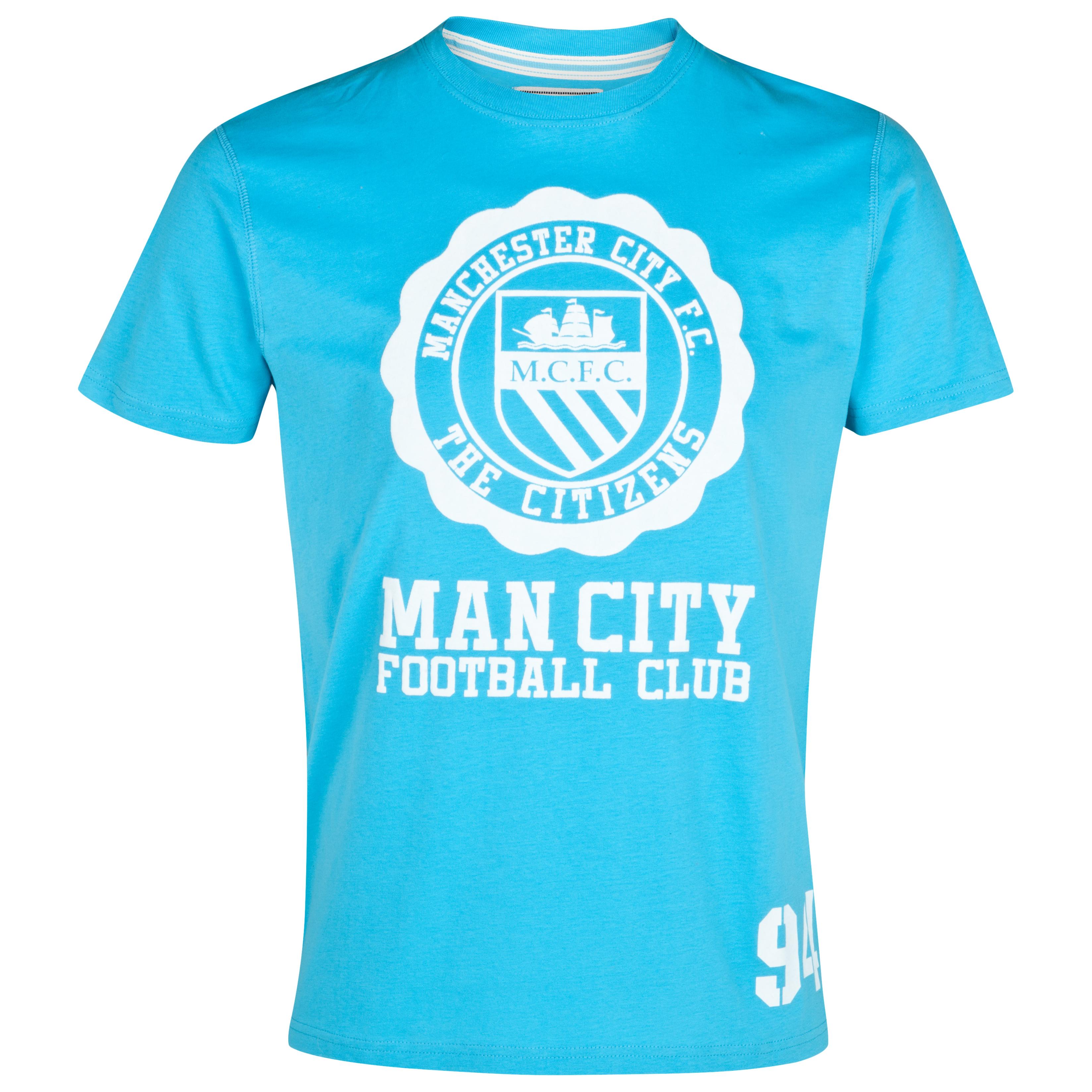 Manchester City Aqua T-Shirt - Aqua
