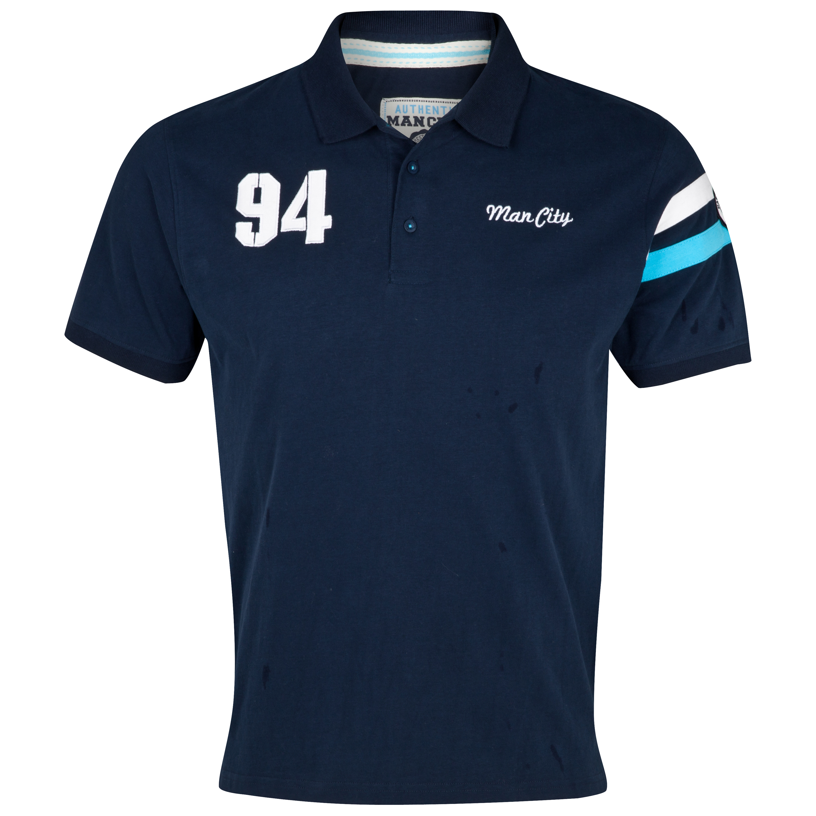 Manchester City Arms Polo Top - Navy - Older Boys