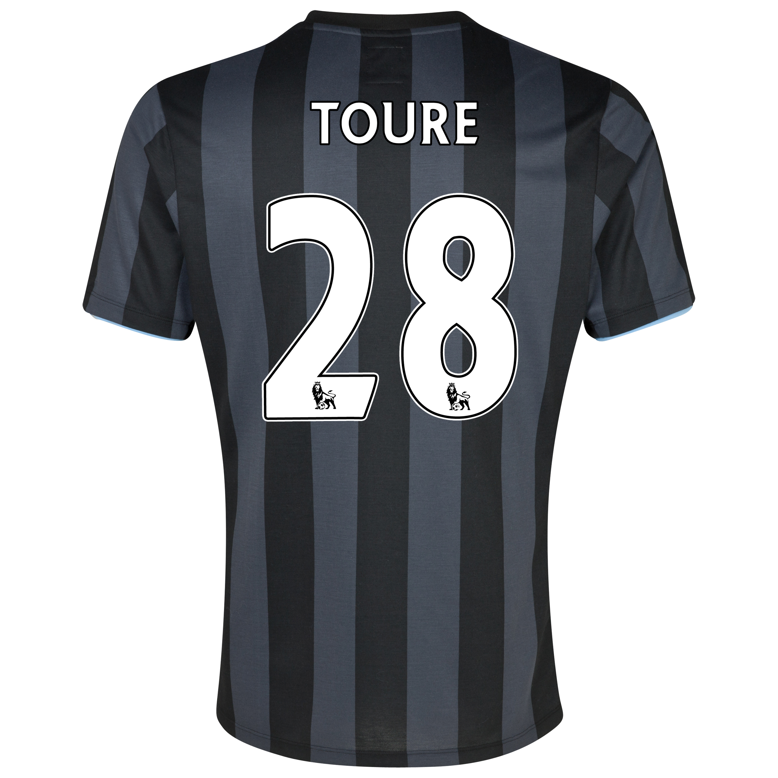 Manchester City Third Shirt 2012/13 with (FAPL) Toure 28 printing