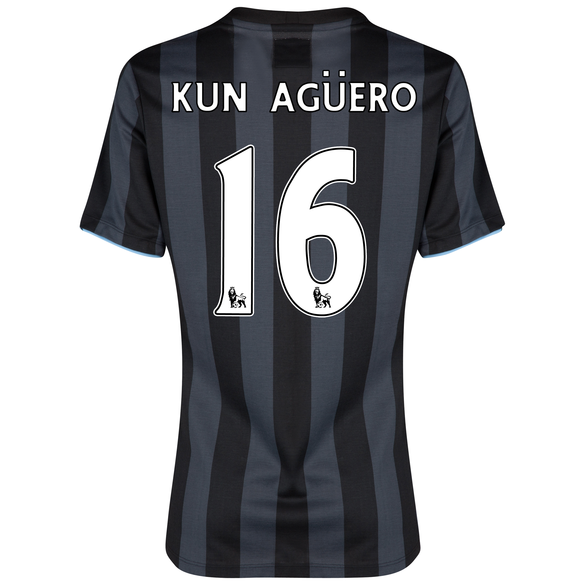 Manchester City Third Shirt 2012/13 - Womens with (FAPL) Kun Aguero 16 printing