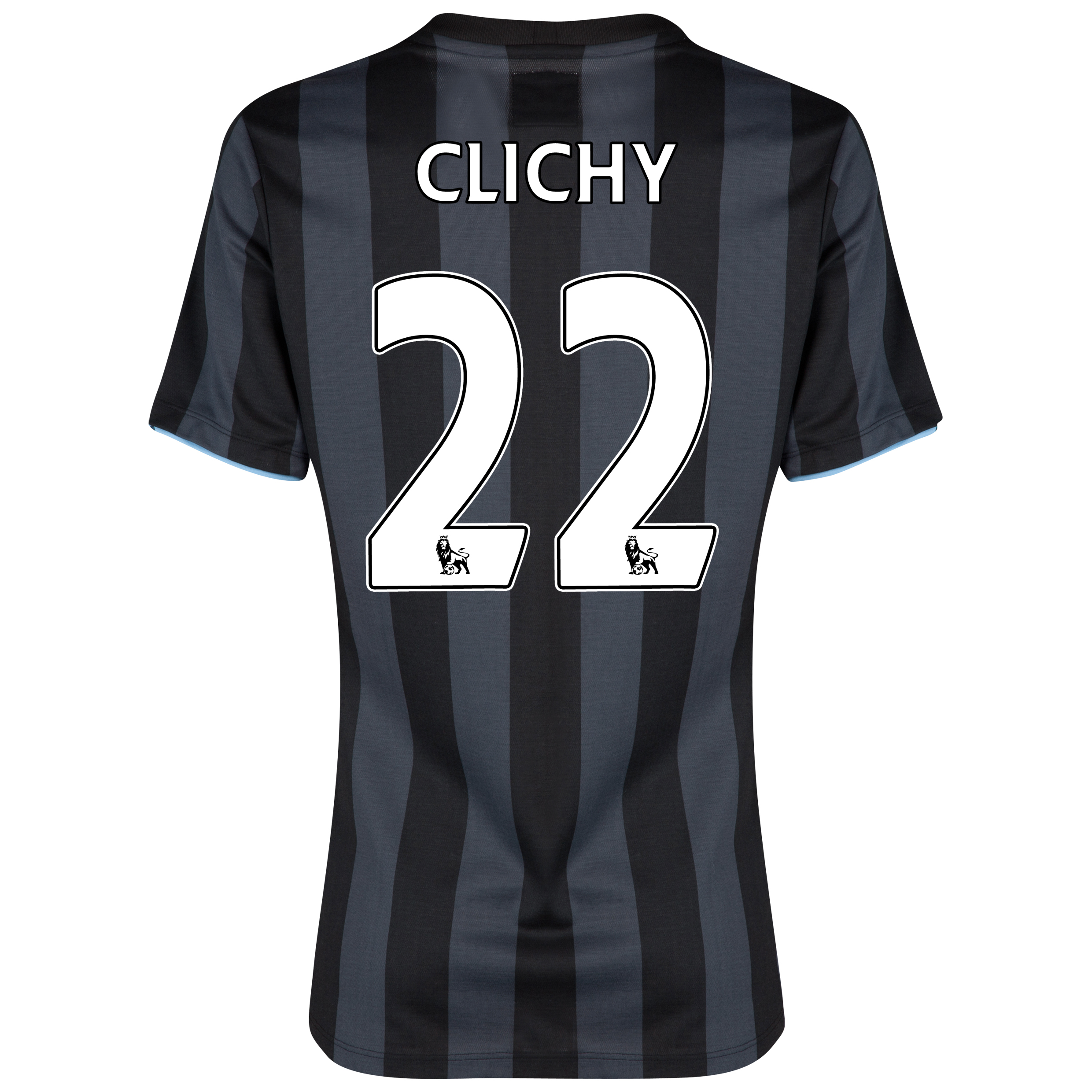 Manchester City Third Shirt 2012/13 - Womens with (FAPL) Clichy 22 printing