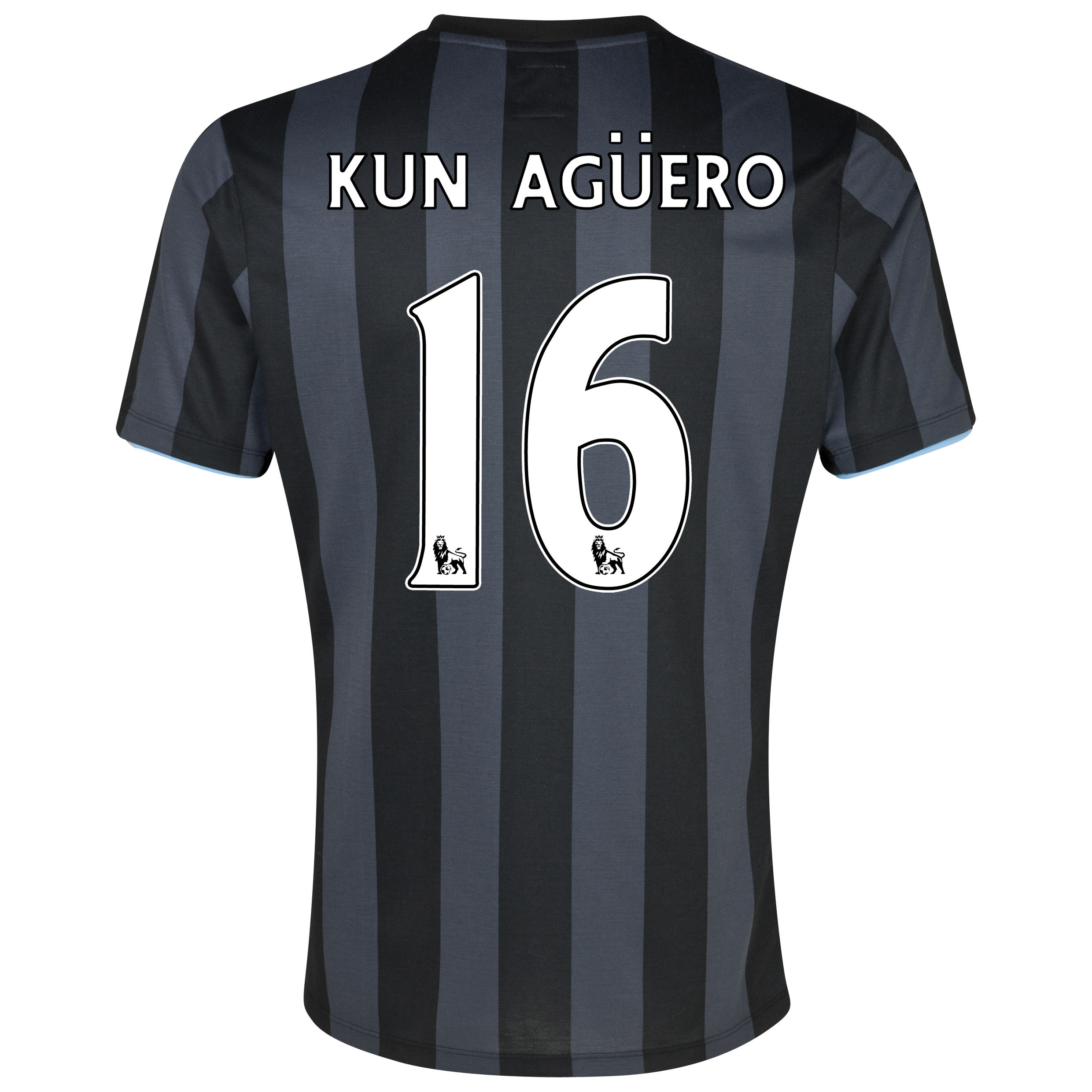 Manchester City Third Shirt 2012/13  - Junior with (FAPL) Kun Aguero 16 printing