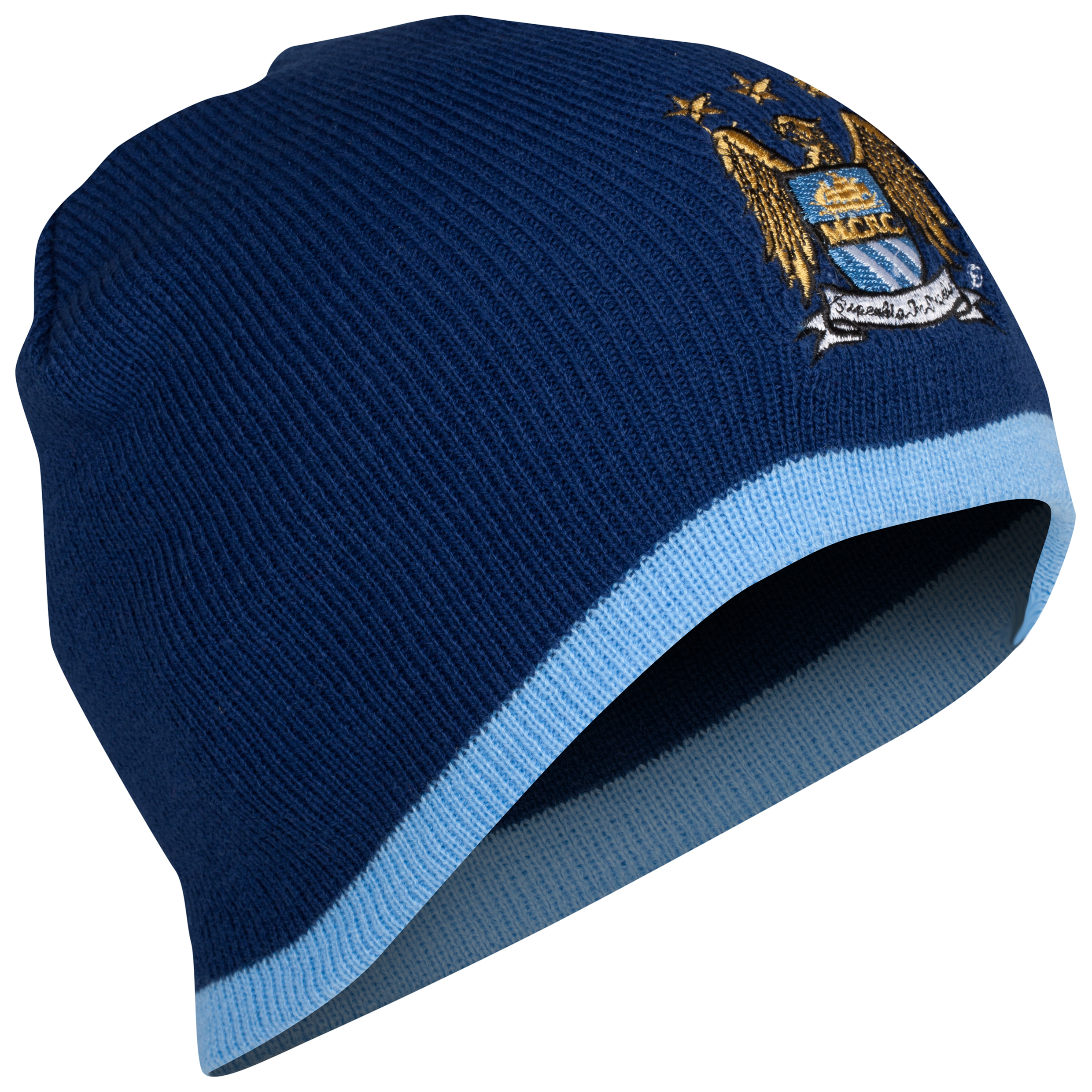Manchester City Core Beanie Hat - Navy - Adult