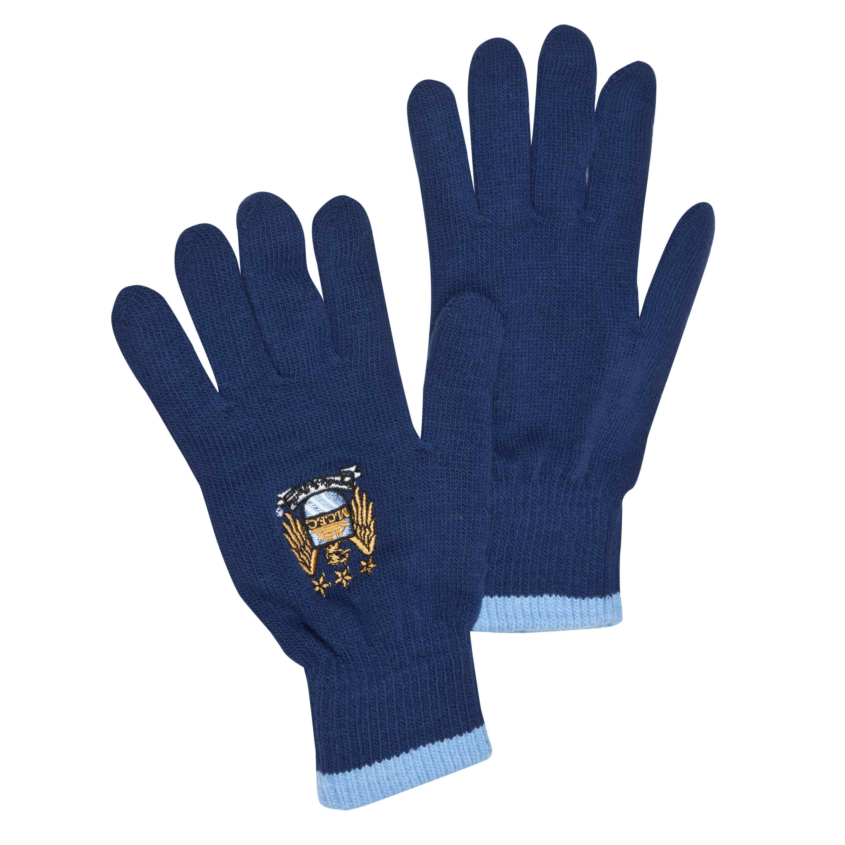 Manchester City Core Knitted Gloves - Navy - Junior