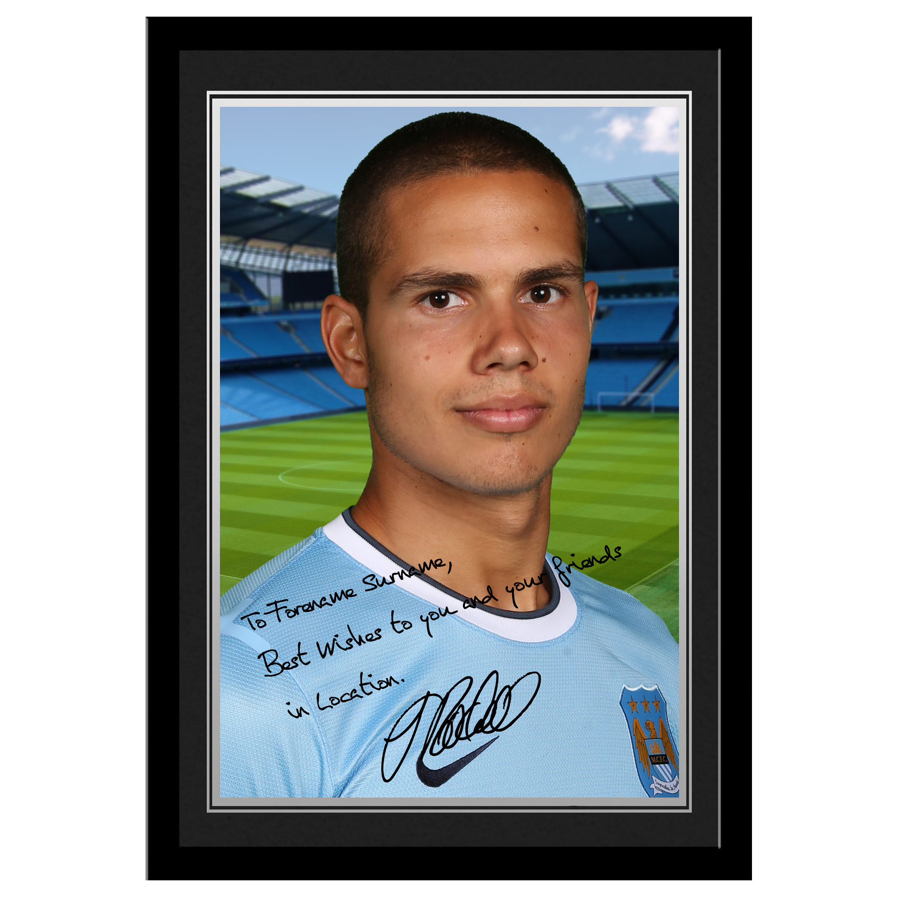 Manchester City Personalised Signature Photo Frame -Jack Rodwell