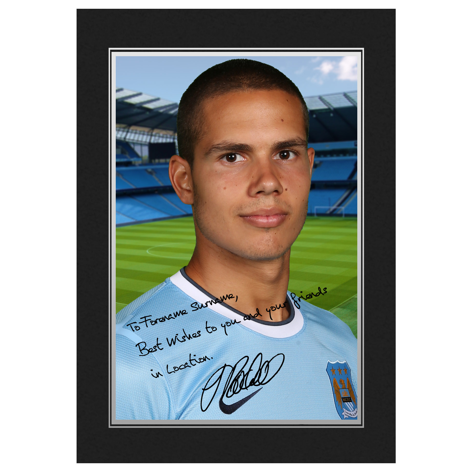 Manchester City Personalised Signature Photo in Presentation Folder - Jack Rodwell