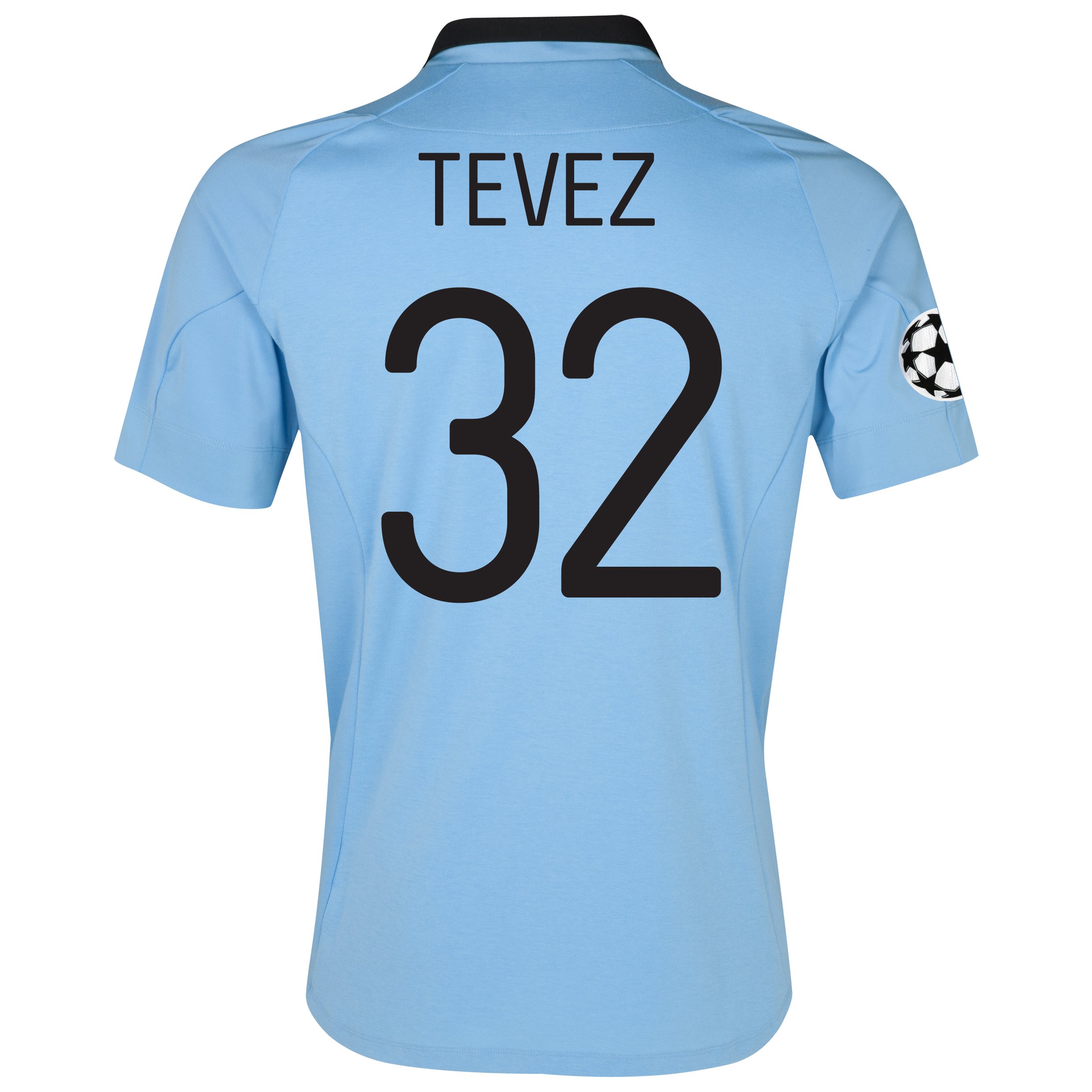 Manchester City UEFA Champions League Home Shirt 2012/13 with Tevez 32 printing