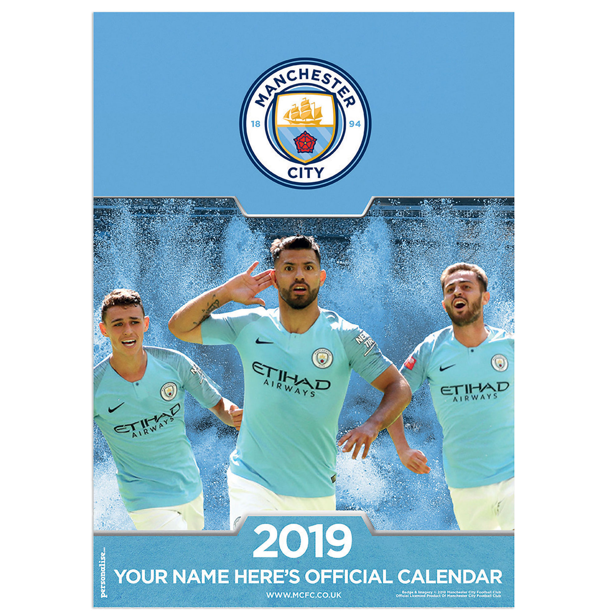 Manchester City 2015 Personalised Calendar