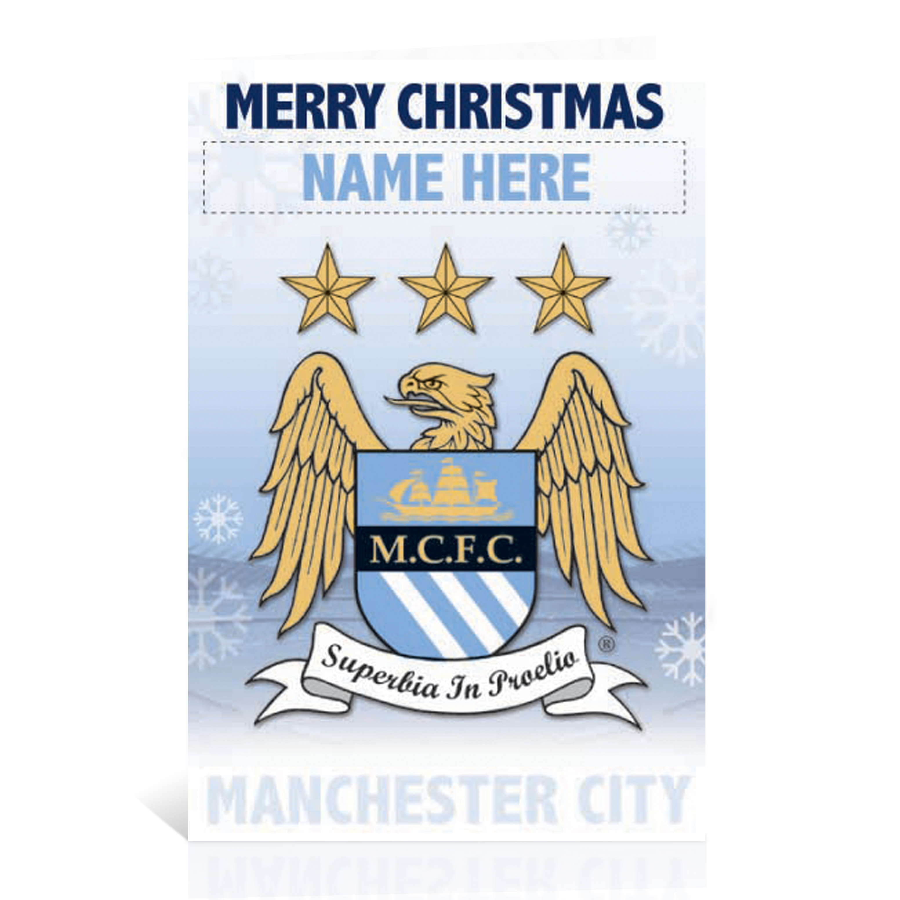 Manchester City Personalised Christmas Card