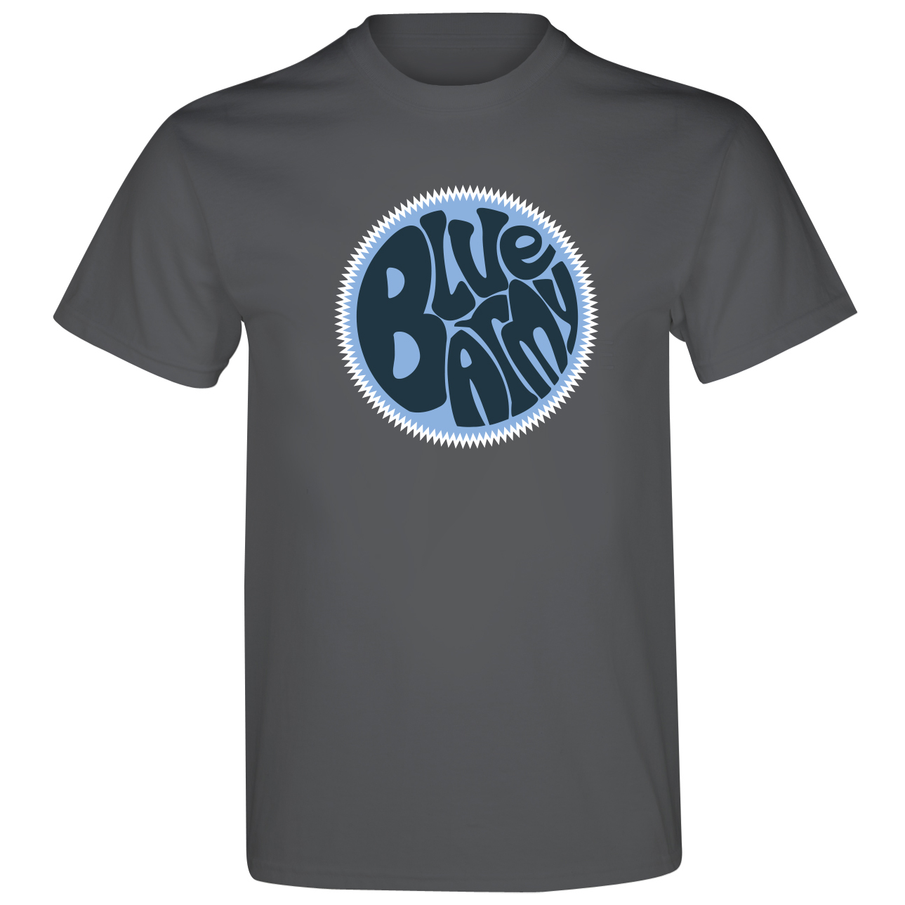 Manchester City 2for15 Blue Army Dial T-Shirt - Charcoal - Junior
