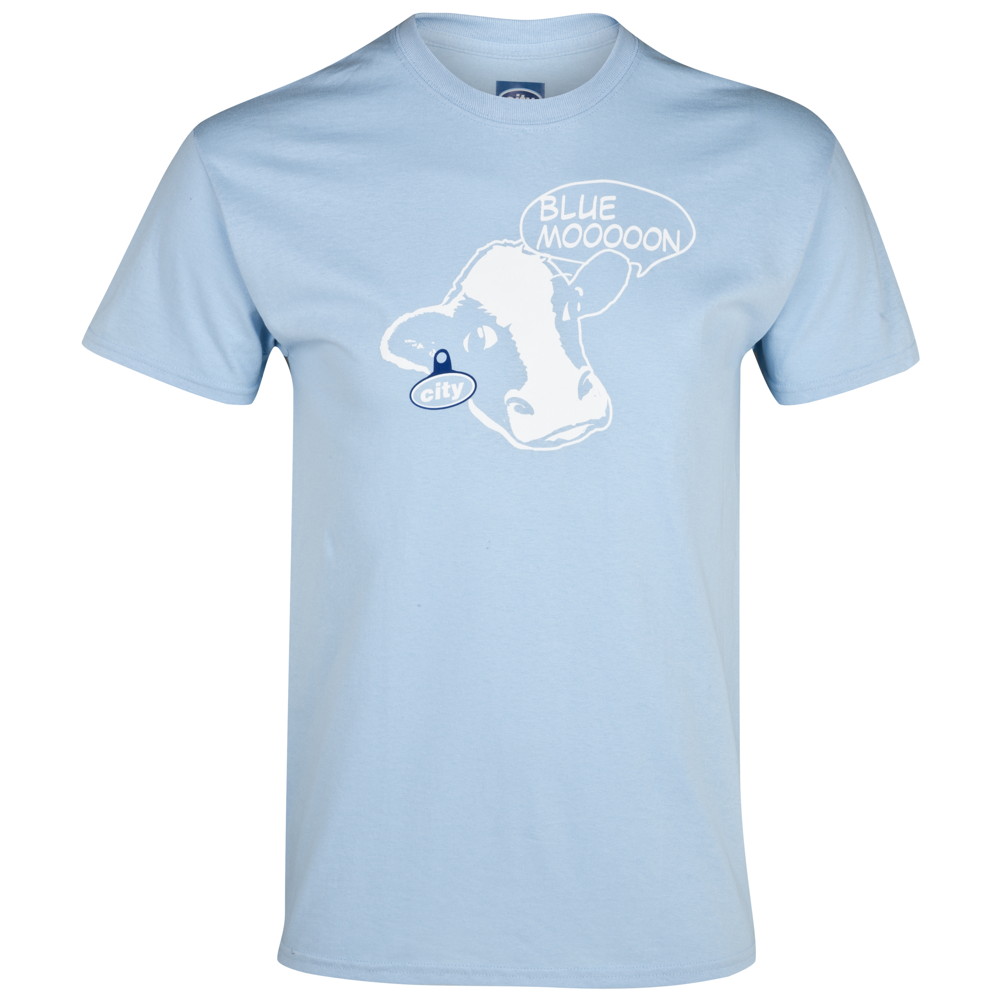 Manchester City 2for15  Blue Mooooon T-Shirt -  Sky - Junior