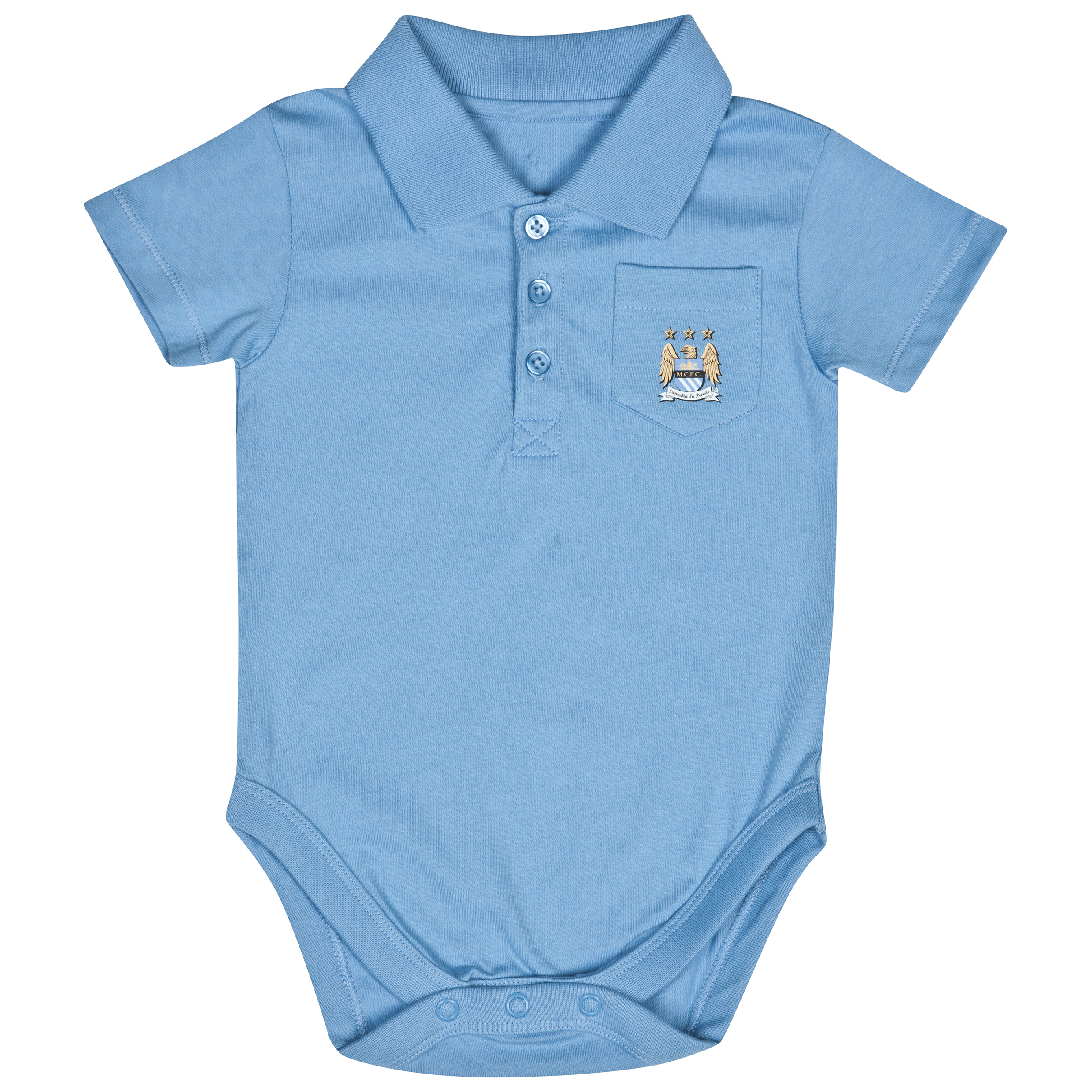 Manchester City Pocket Bodysuit - Sky - Baby