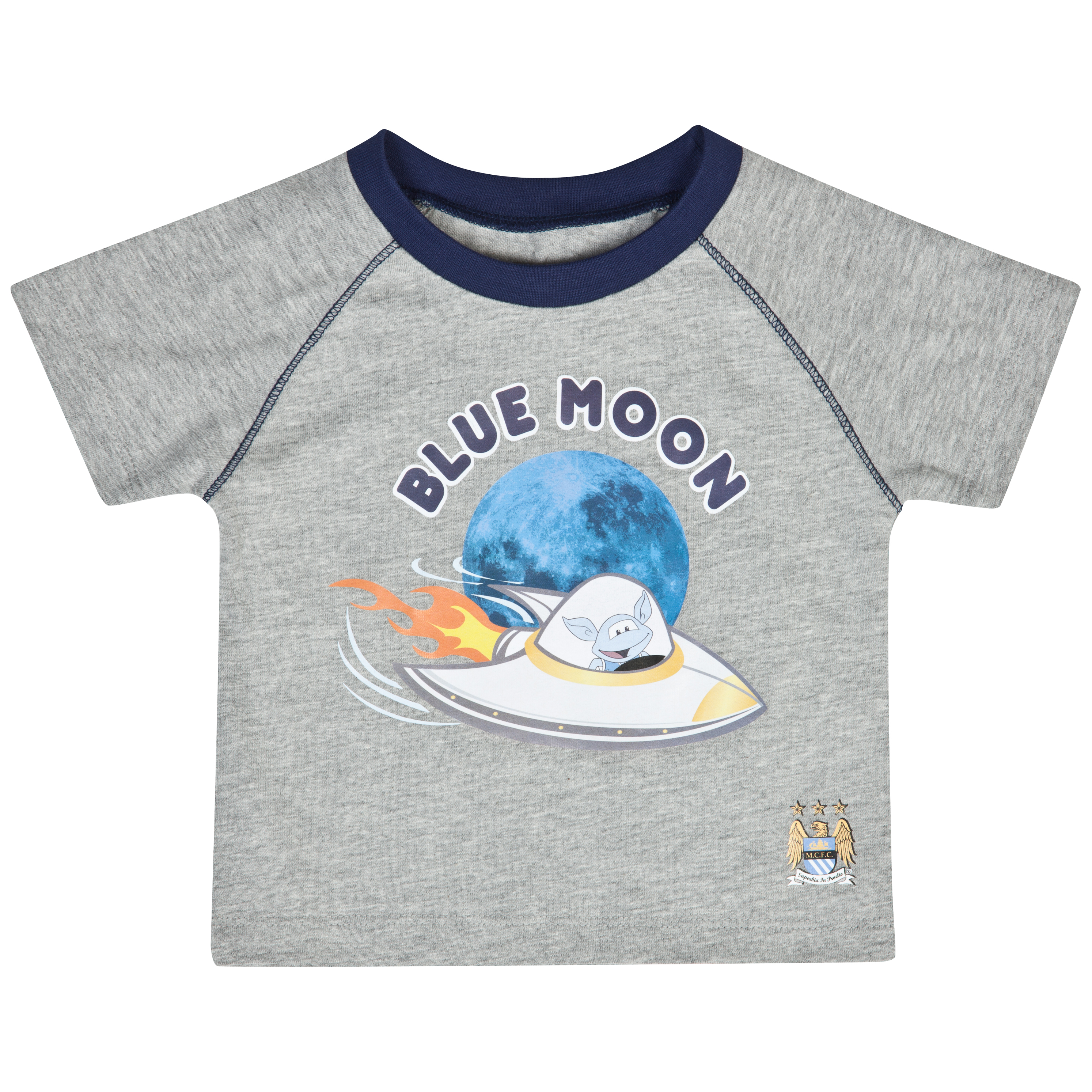 Manchester City Blue Moon T-Shirt - Grey - Baby