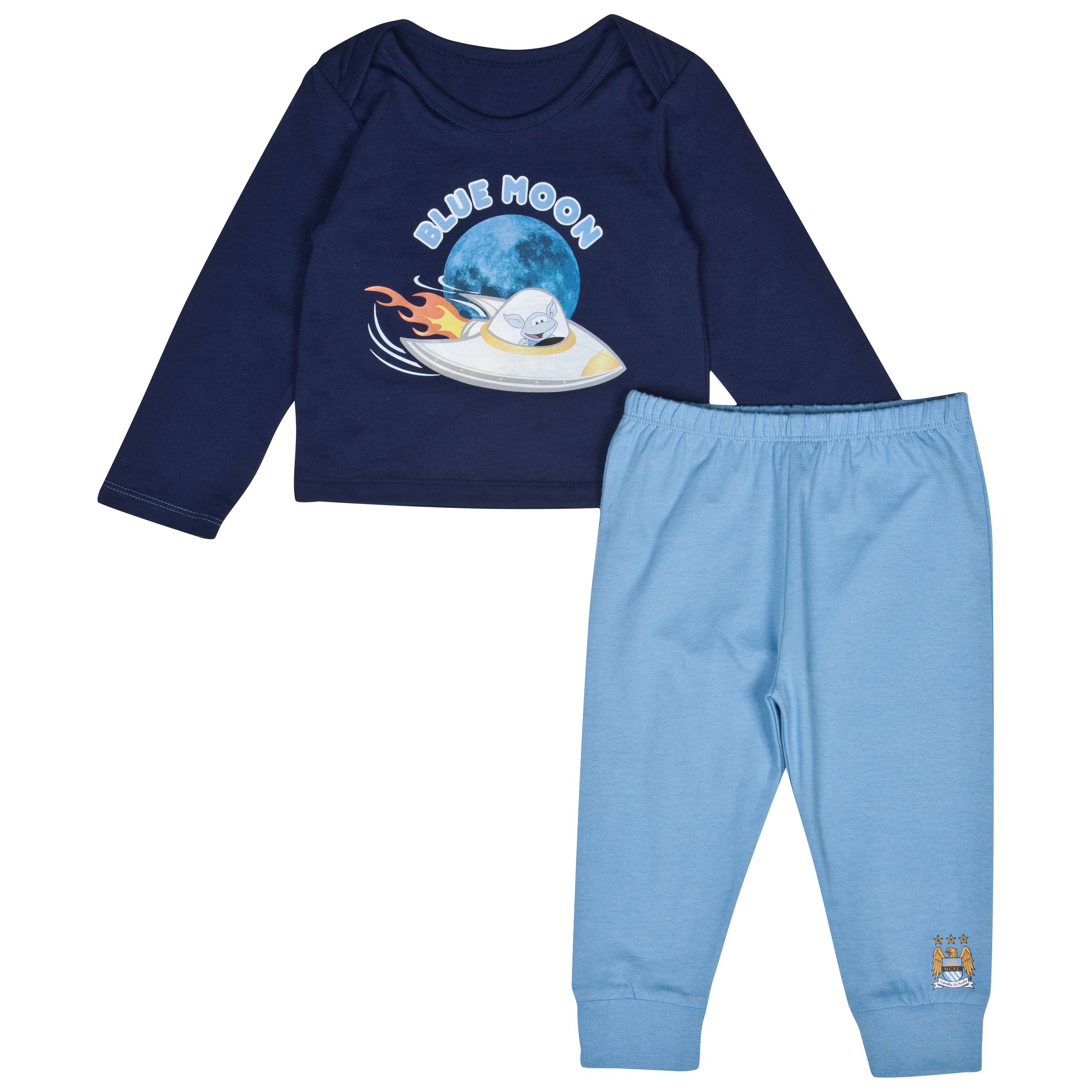 Manchester City Blue Moon 2 Piece Set - Navy/Sky - Baby
