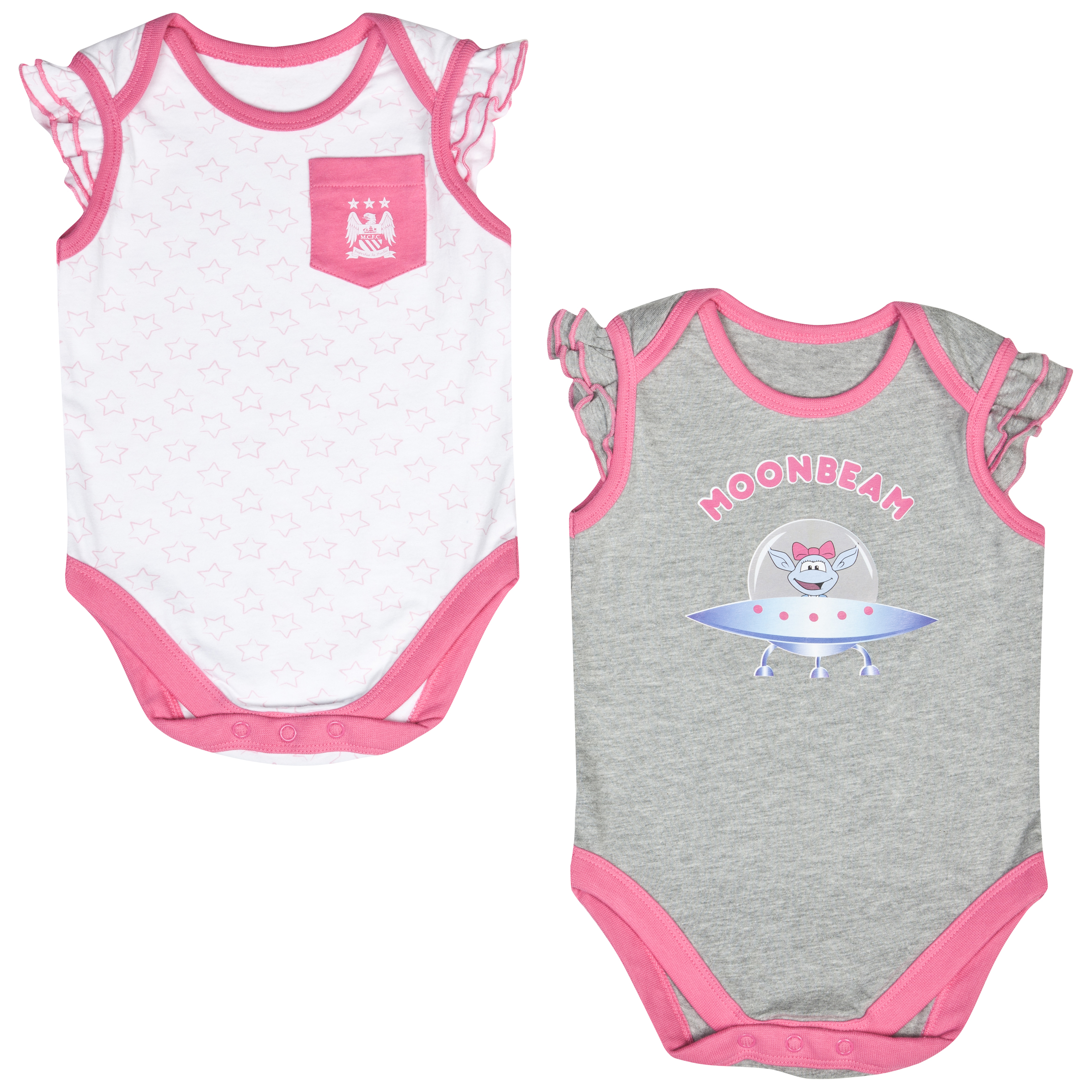 Manchester City Moonbeam Bodysuits - Pink/White - Baby
