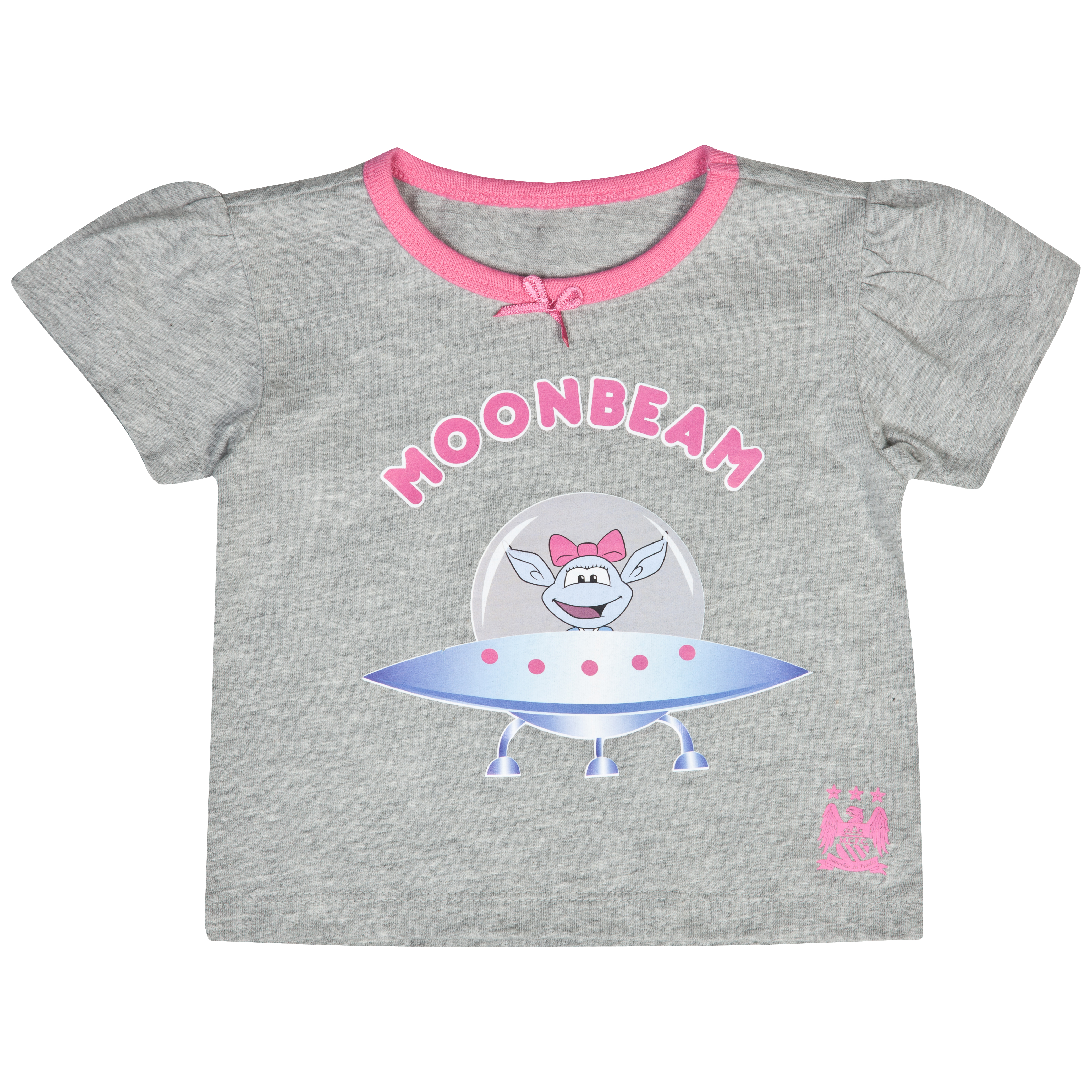 Manchester City Moonbeam T-Shirt	 - Grey/Pink