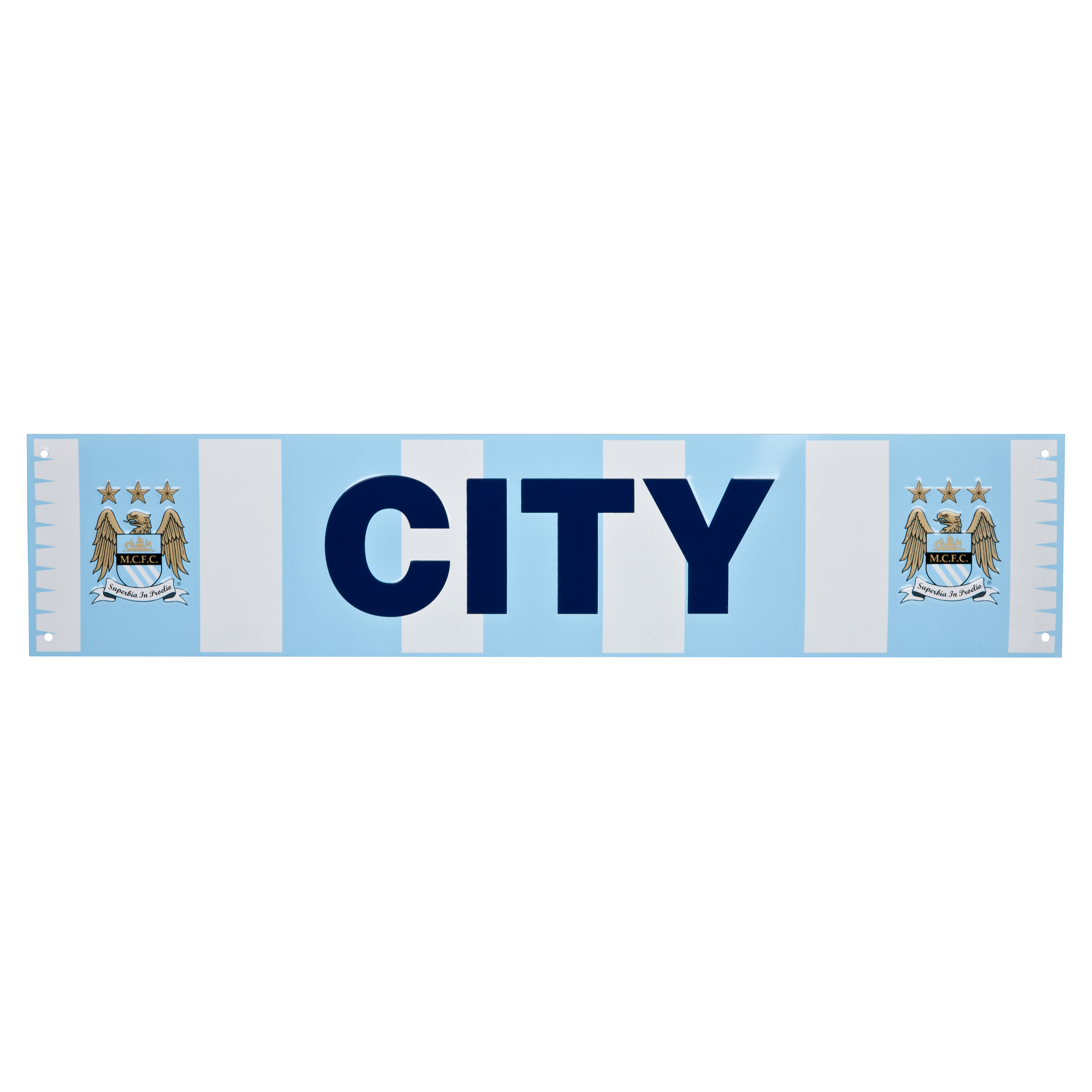 Manchester City Bar Scarf Metal Sign