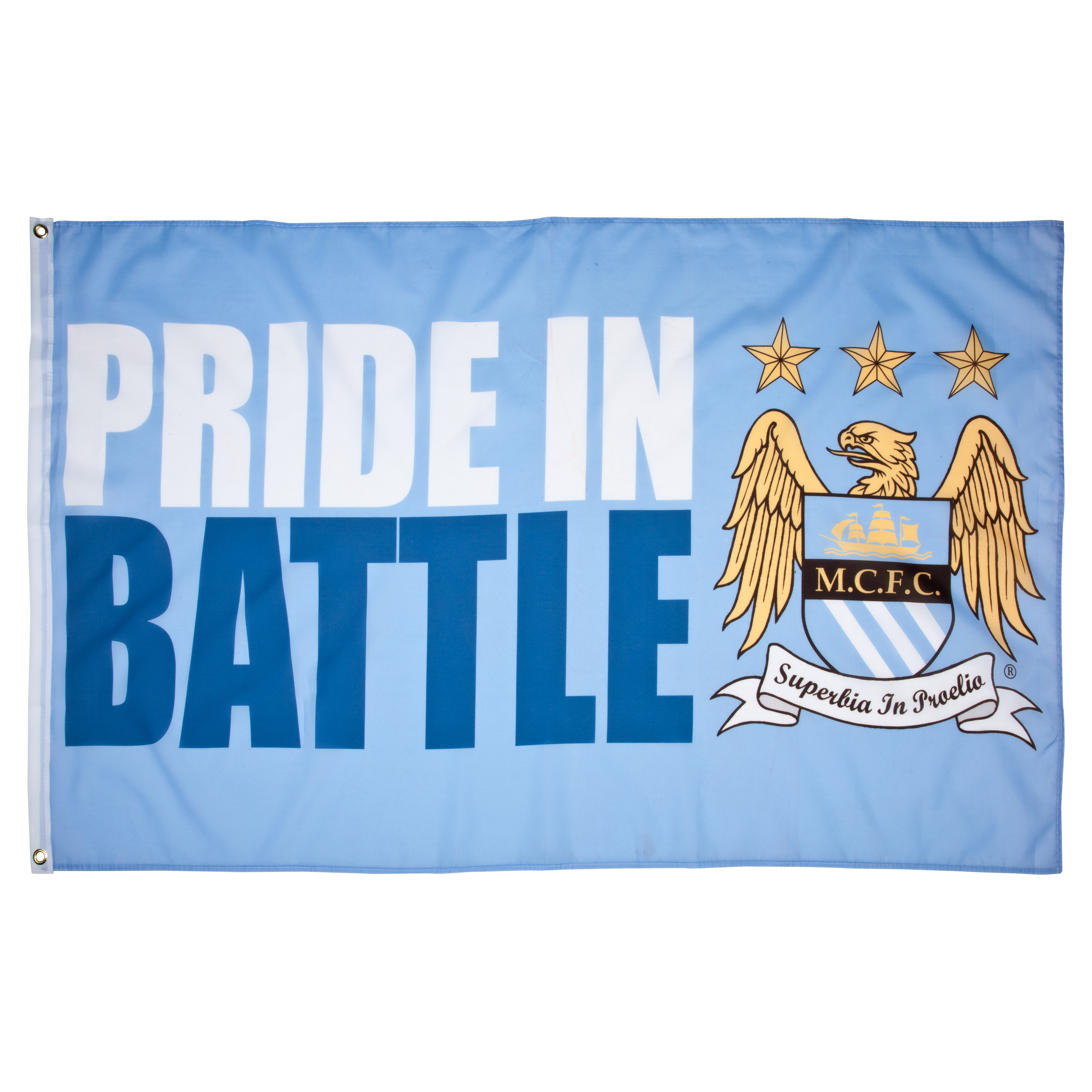 Manchester City Slogan 5x3 Sky Flag