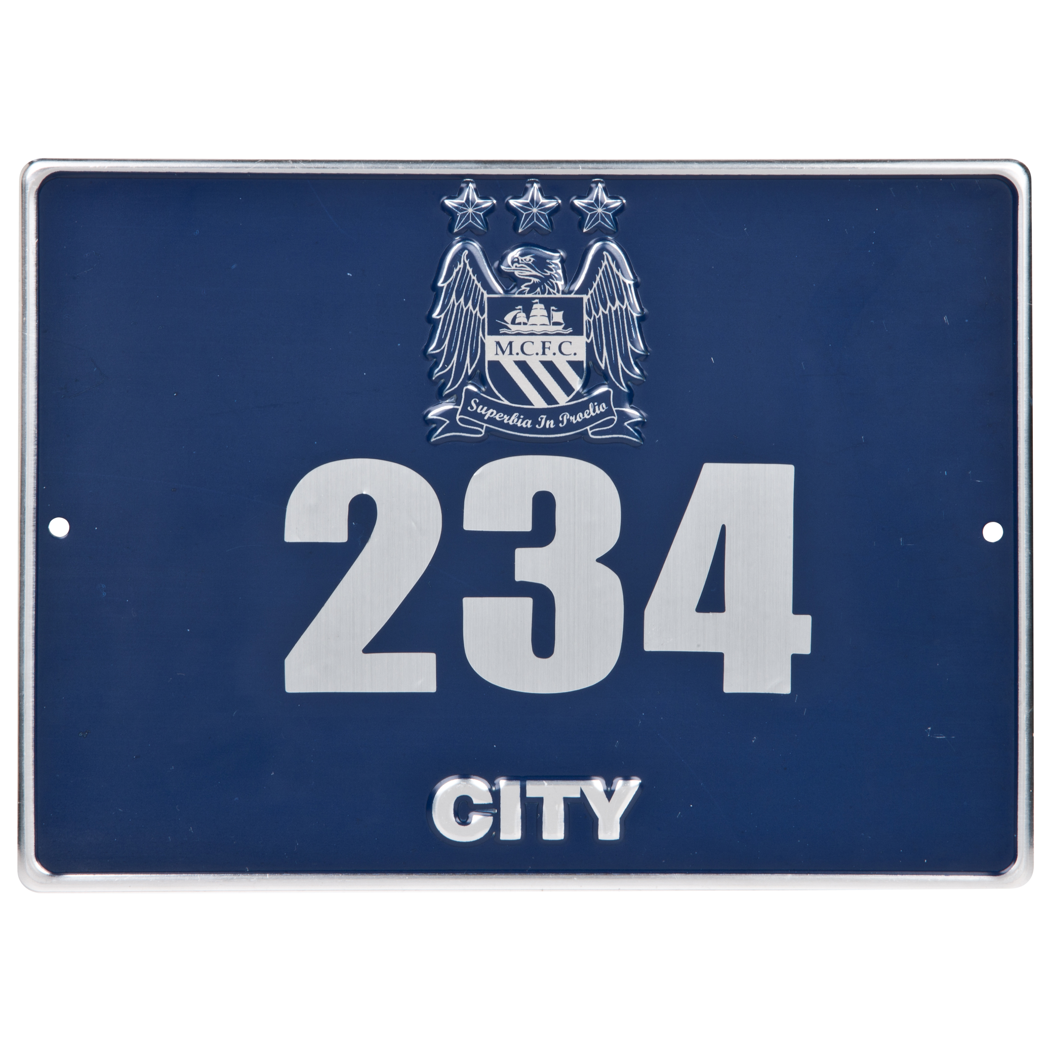 Manchester City Metal Door Plaque