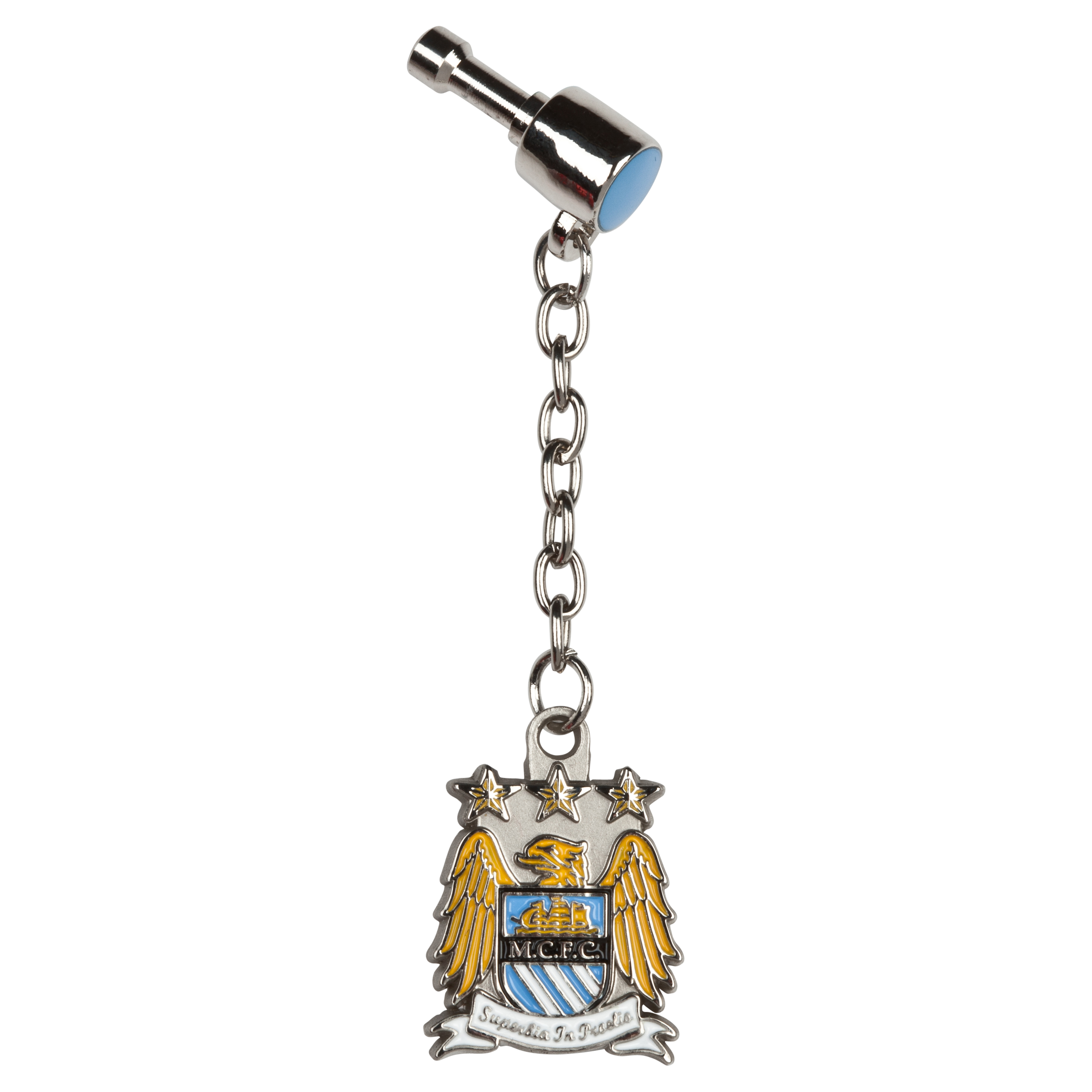 Manchester City Crest Plug In Phone Charm