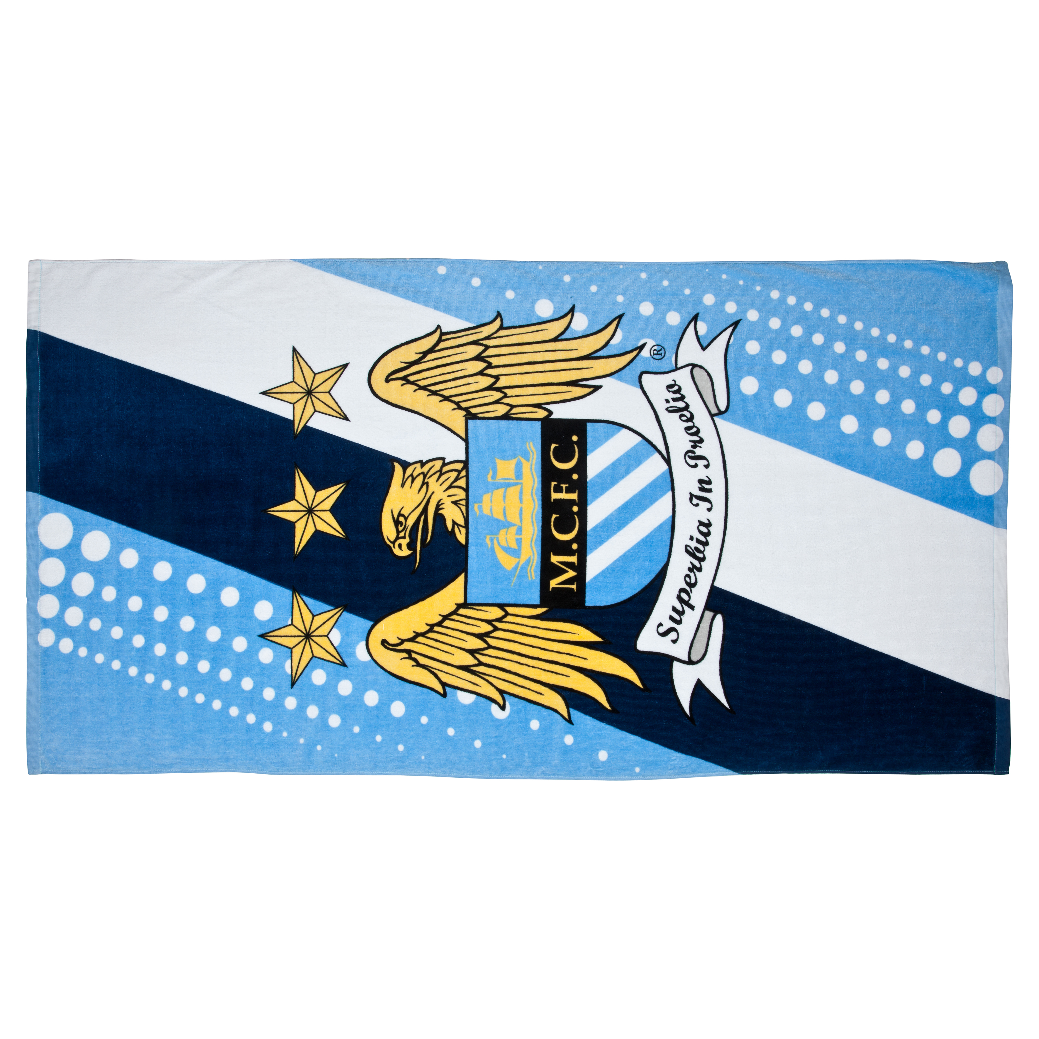 Manchester City Stripe Beach Towel