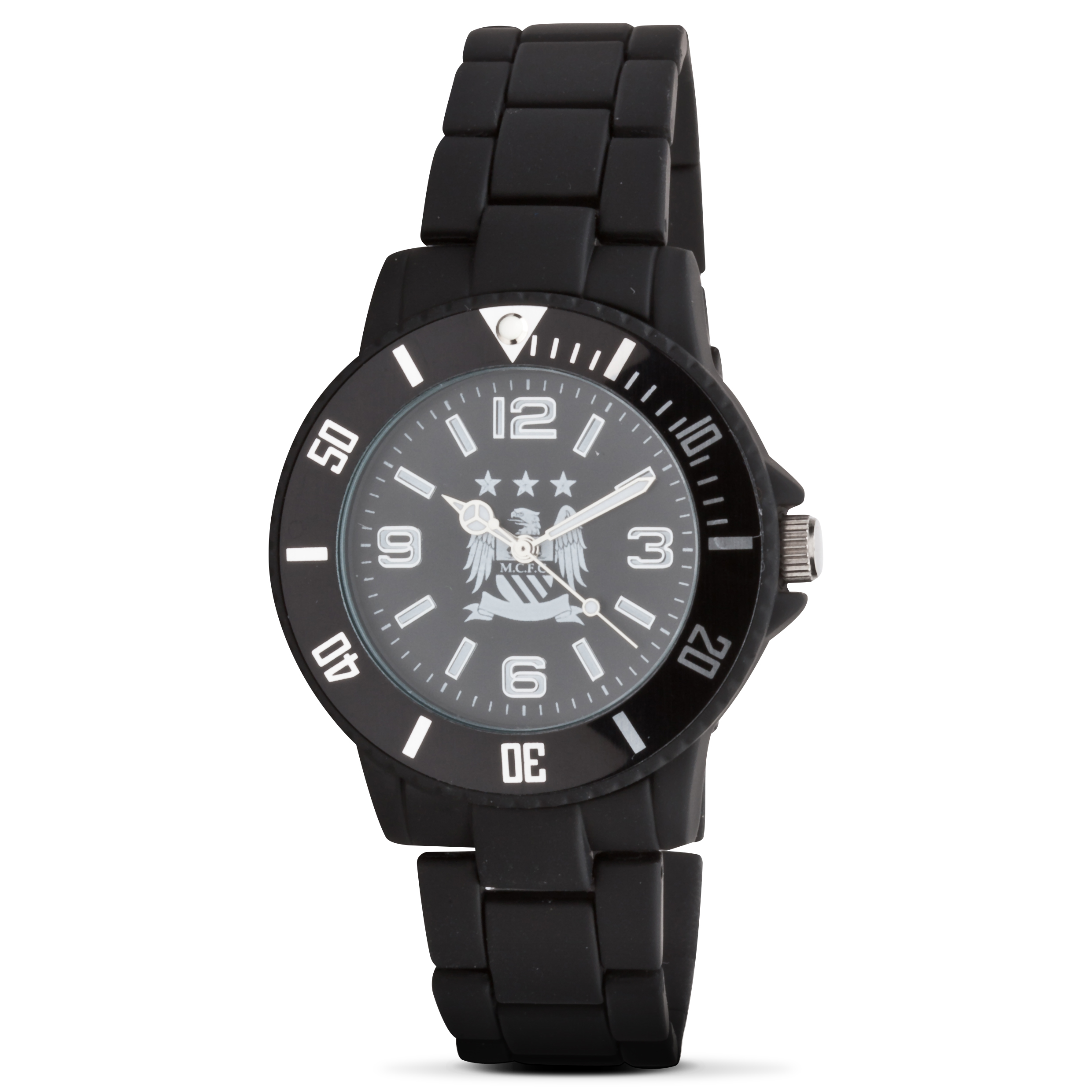 Manchester City Mens Gun Metal Steel Bracelet Watch