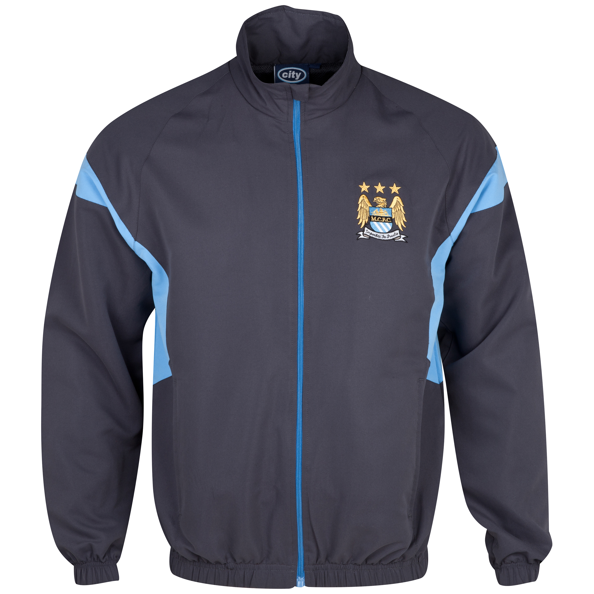 Manchester City Essentials Court Track Top - Mens Dk Grey