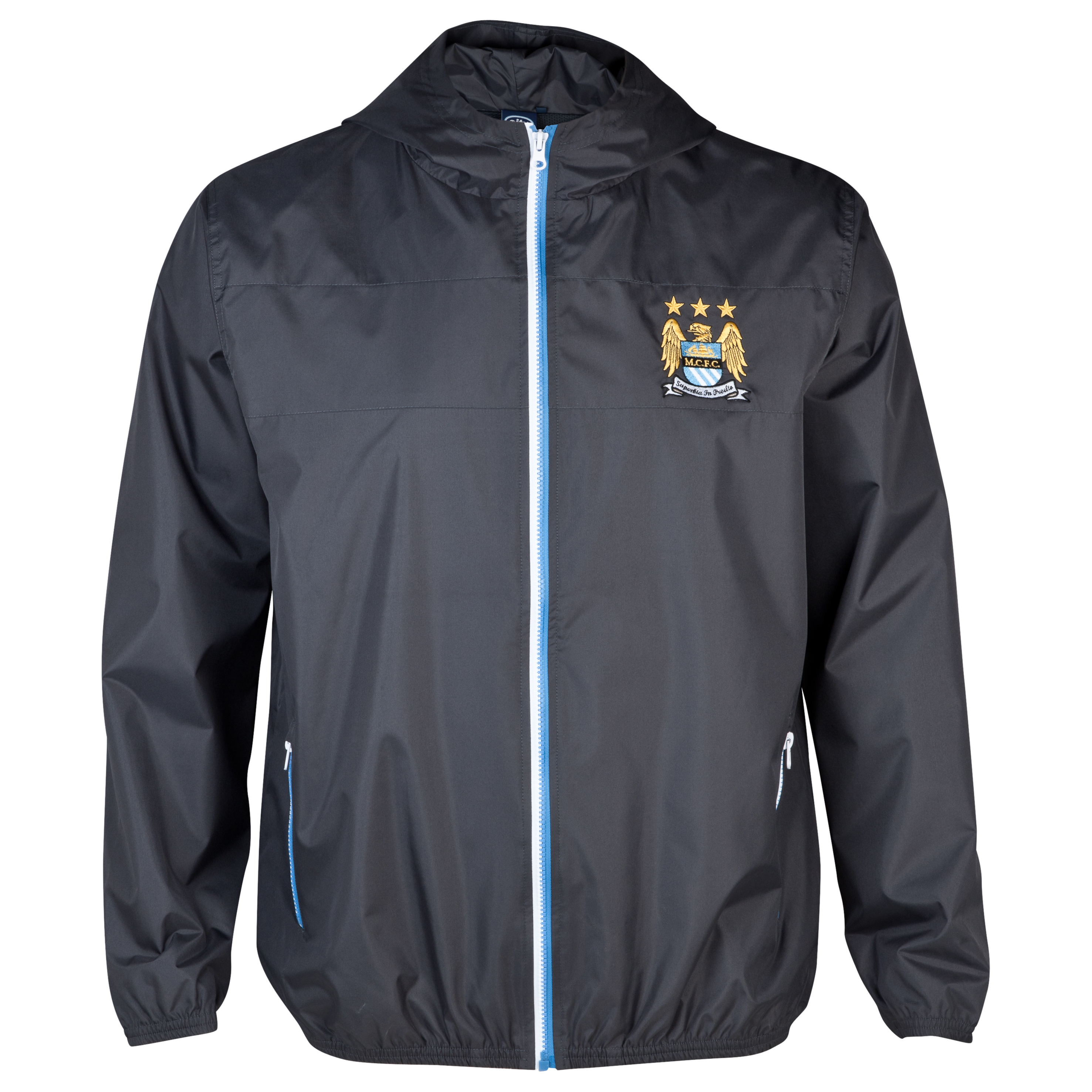 Manchester City Essentials Shower Jacket - Mens Dk Grey