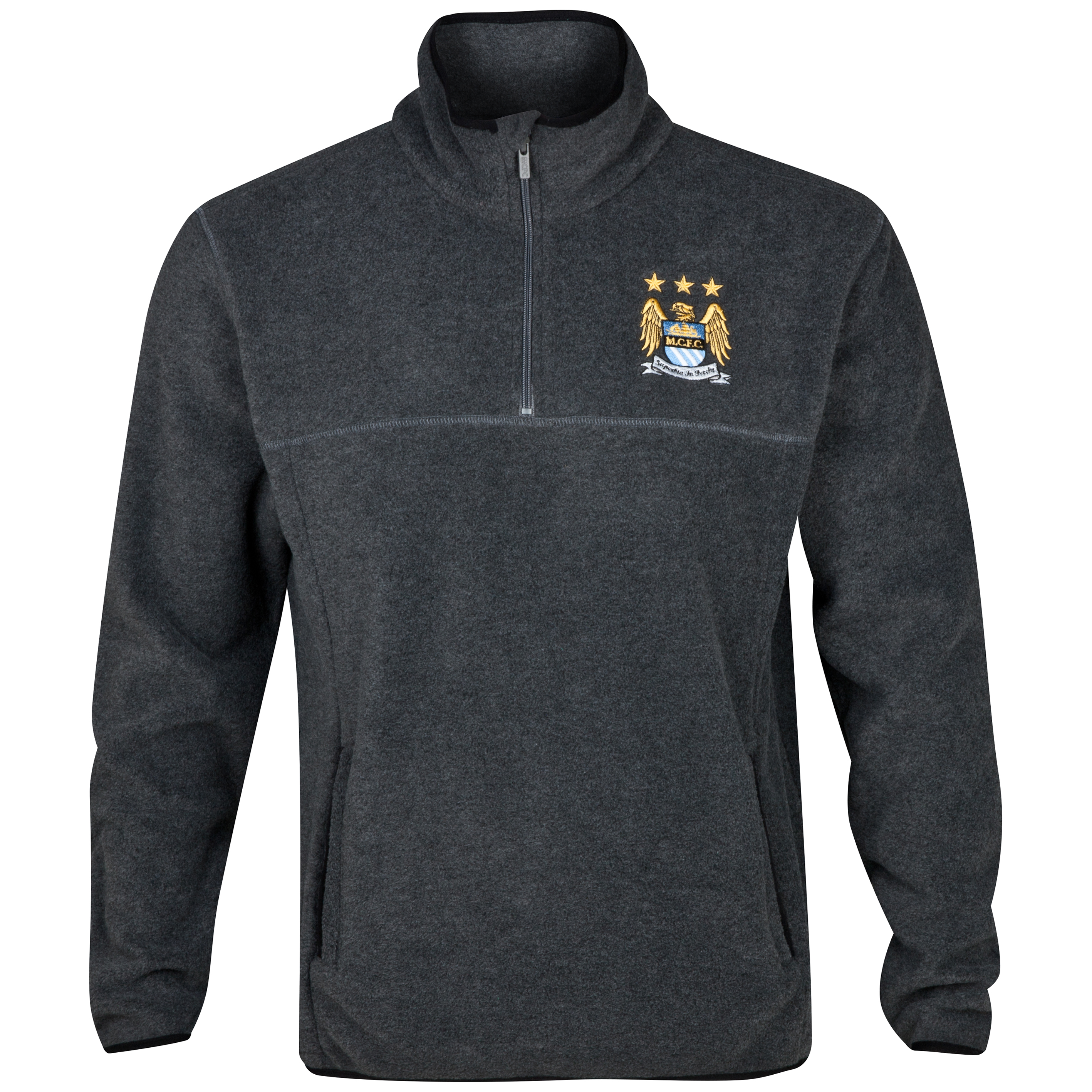 Manchester City Essentials Field Fleece - Older Boys Charcoal