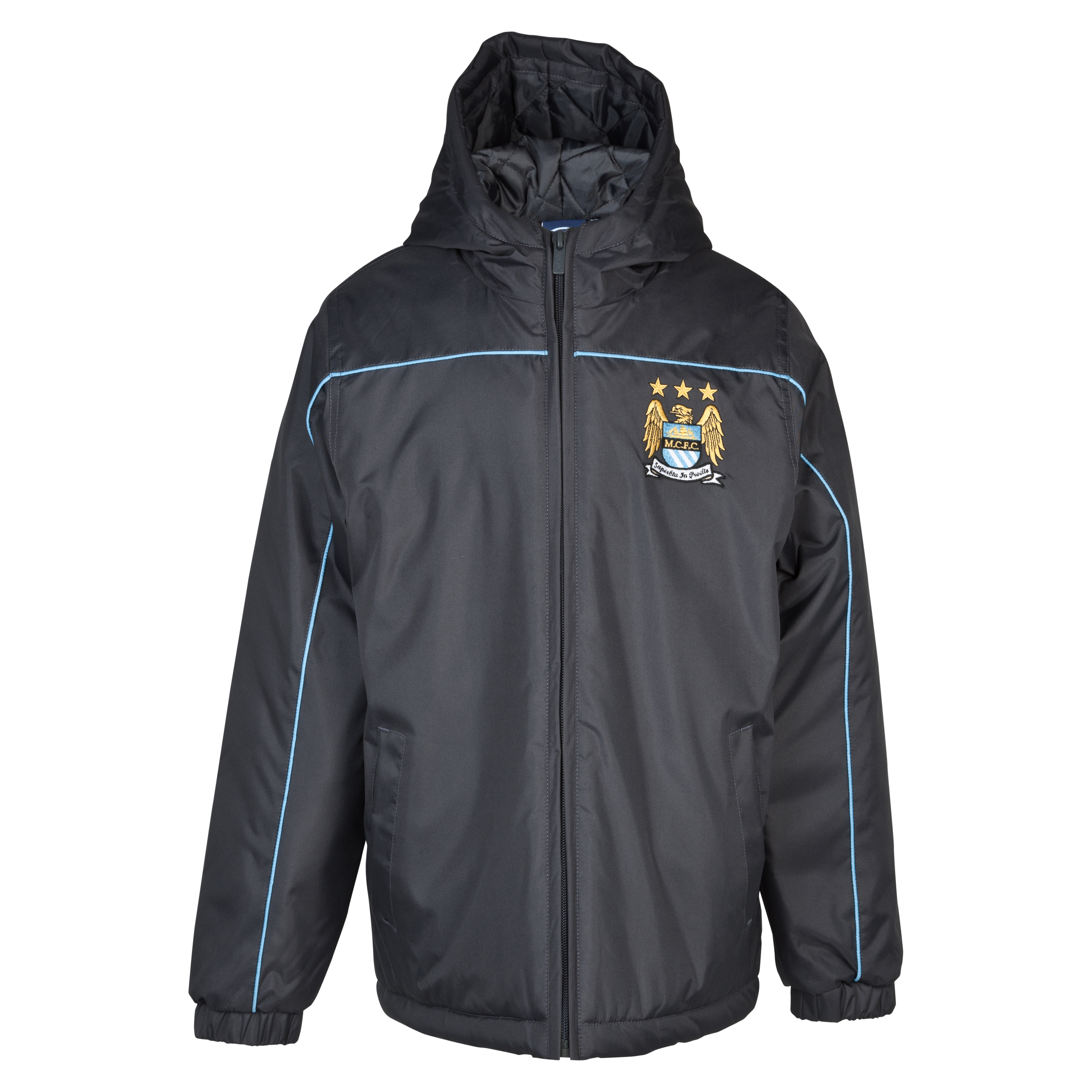 Manchester City Essentials Barrier Coat - Older Boys Dk Grey