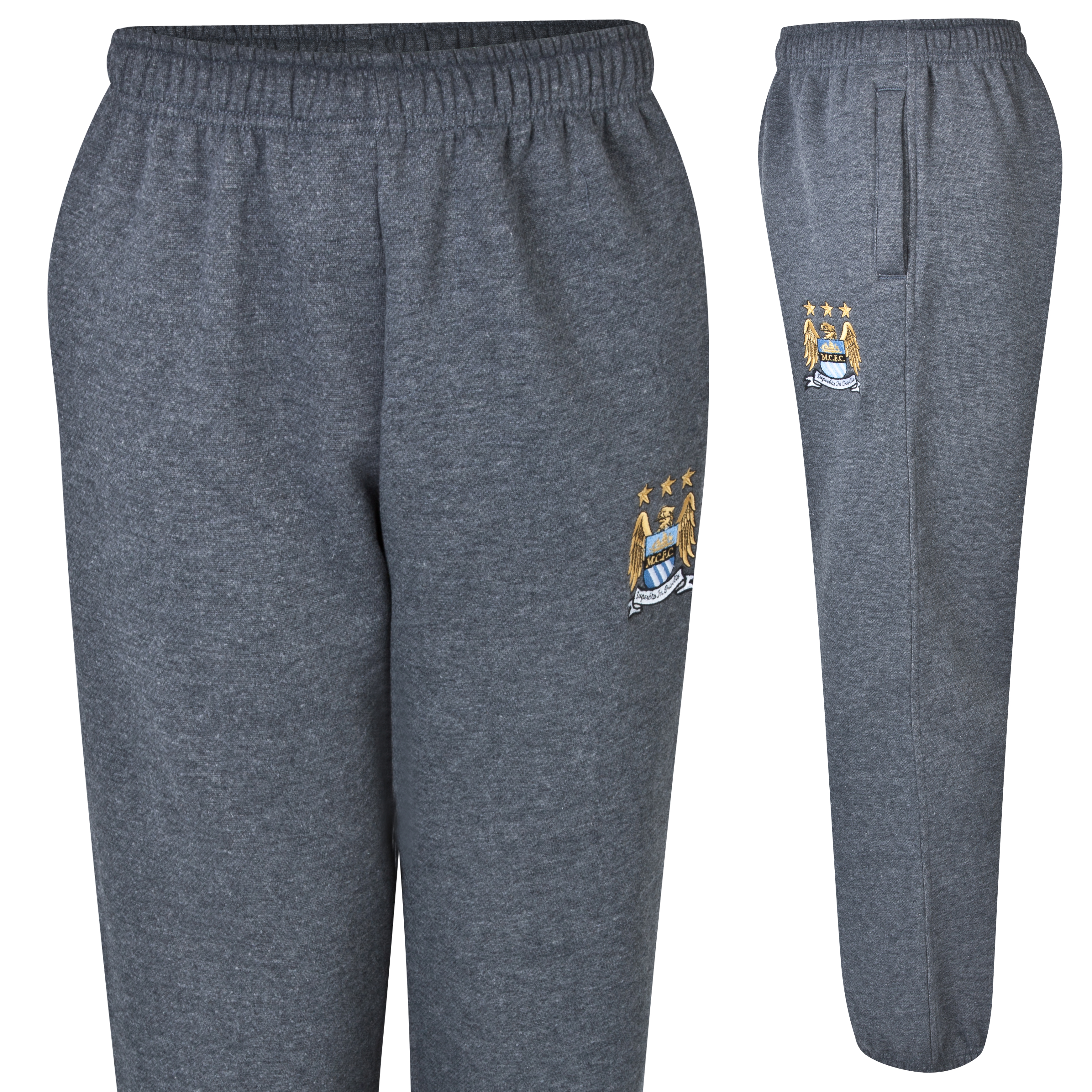 Manchester City Essentials Aim Jog Pants - Older Boys Charcoal