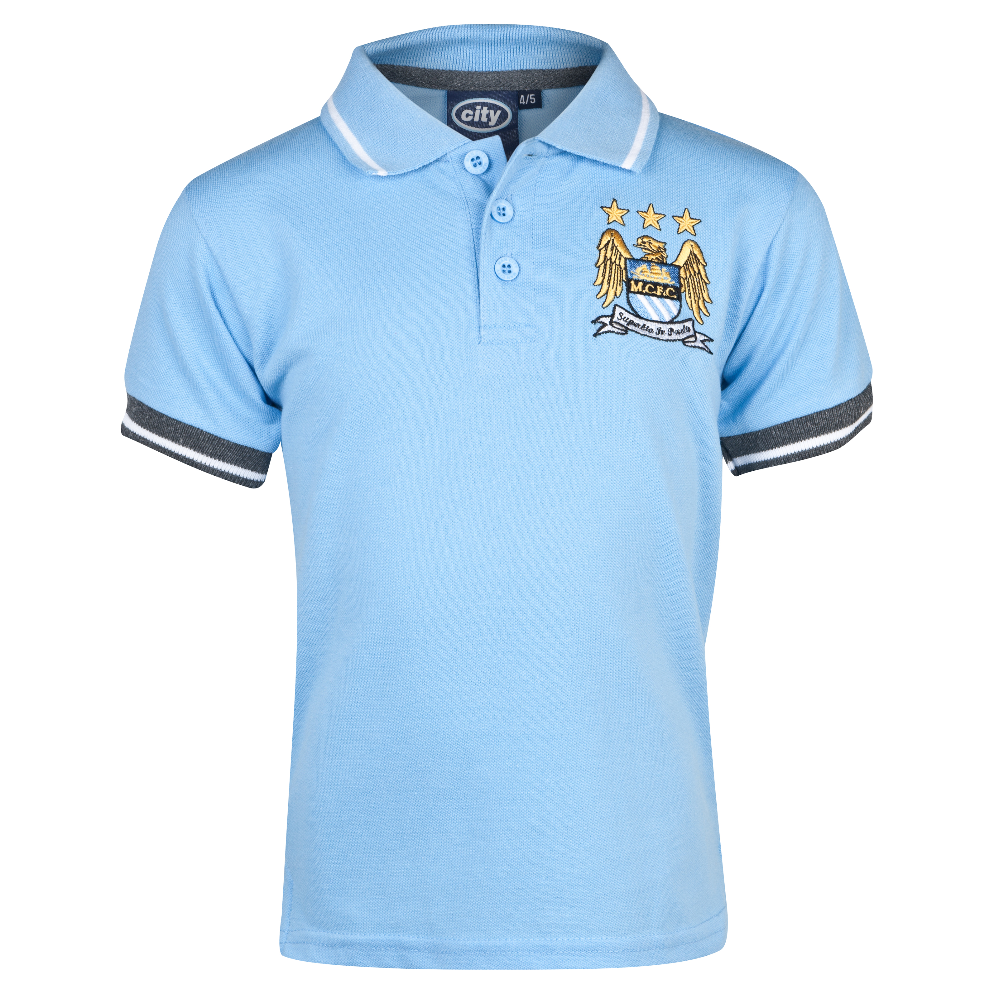 Manchester City Essentials Tour Polo Shirt - Infant Boys Lt Blue