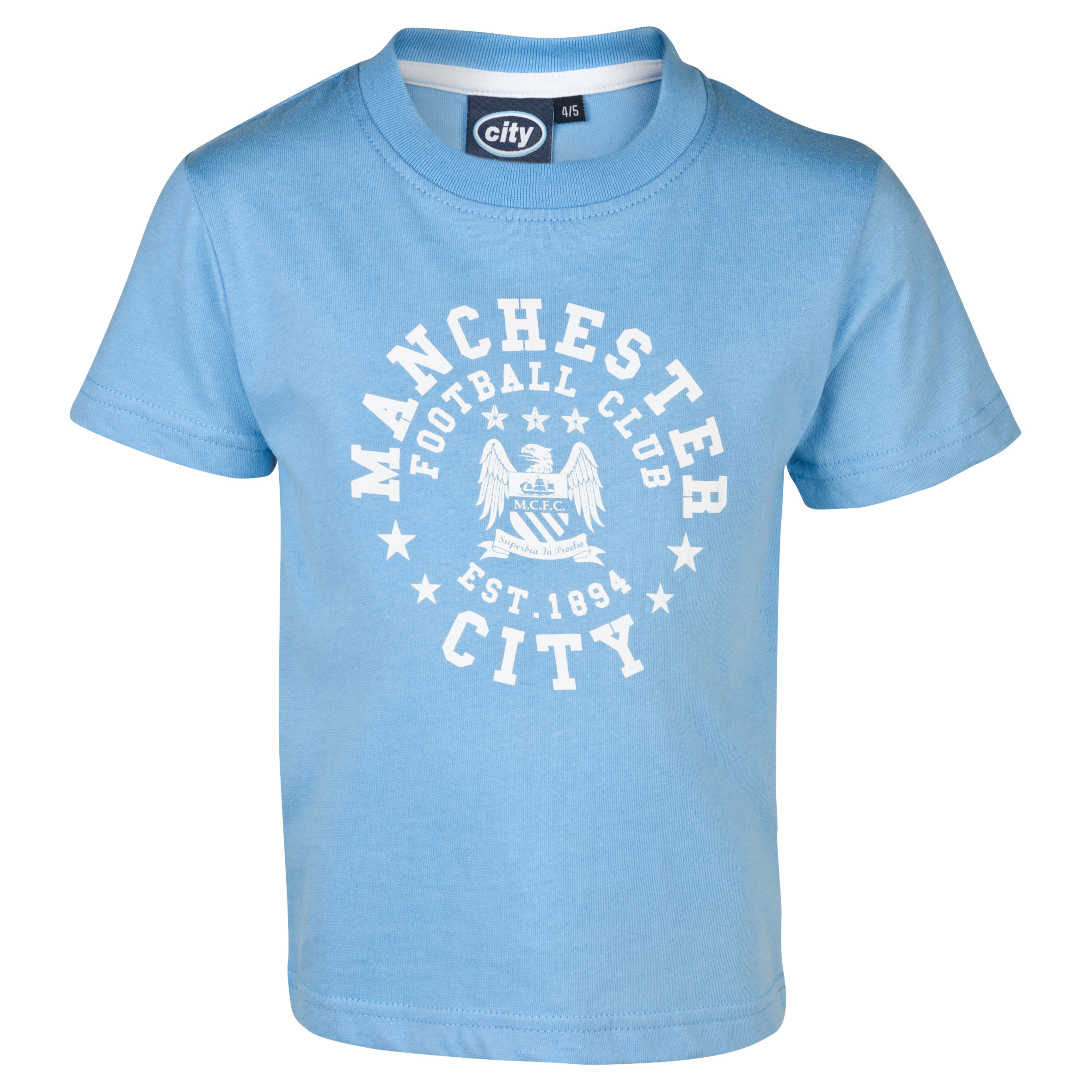 Manchester City Essentials Motif T-Shirt - Infant Boys Lt Blue