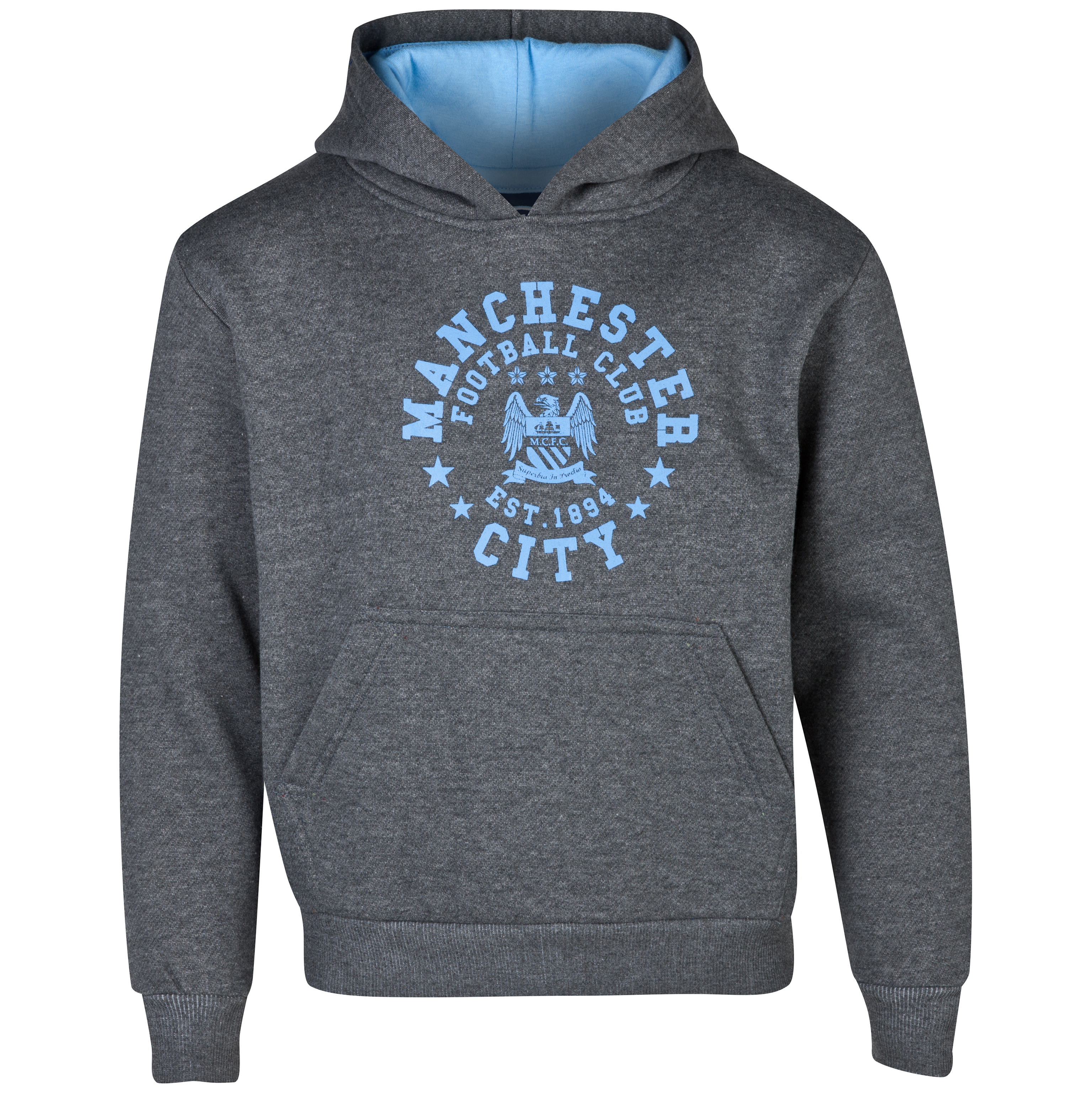 Manchester City Essentials Trail Hoody - Older Boys Charcoal