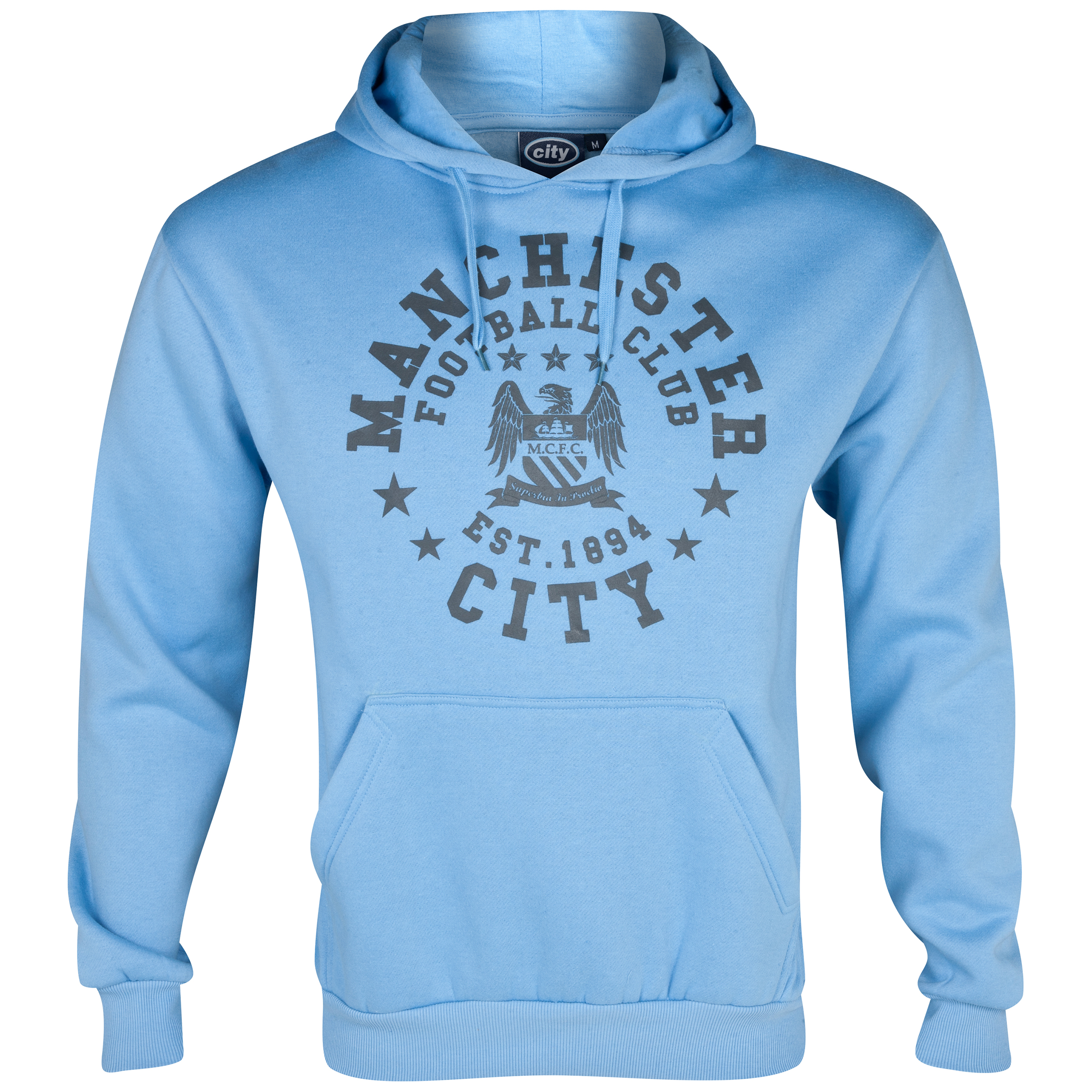 Manchester City Essentials Trail Hoody - Mens Lt Blue