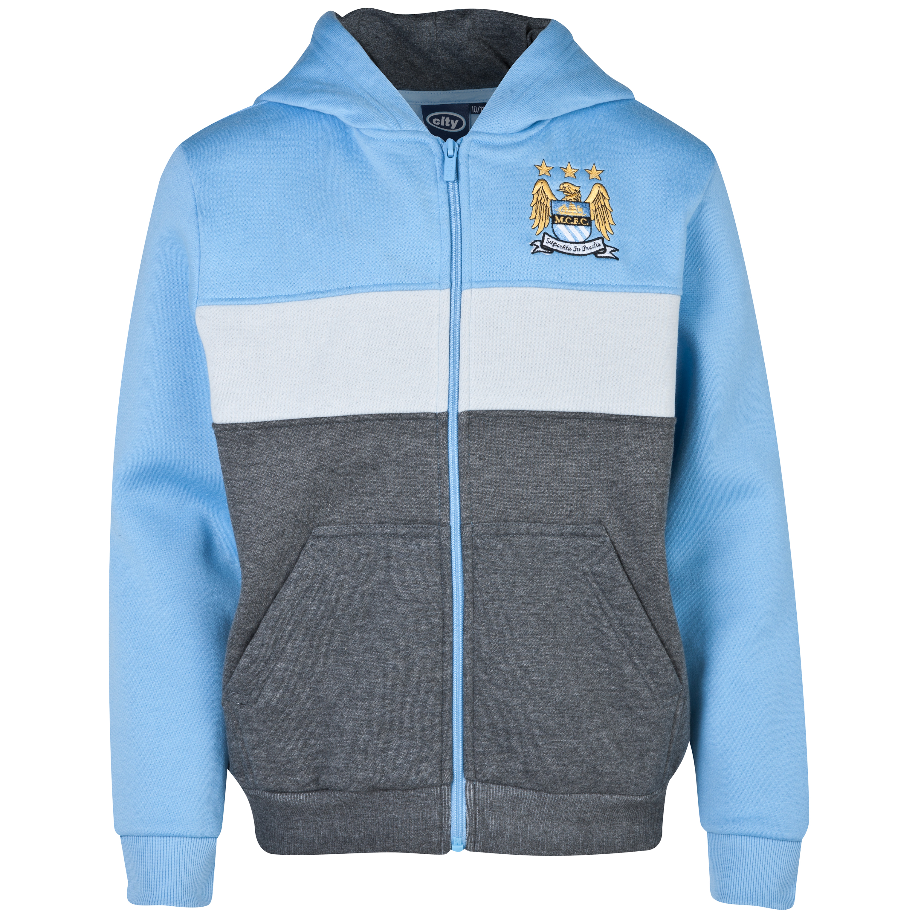 Manchester City Essentials Panel Hoody - Older Boys Lt Blue