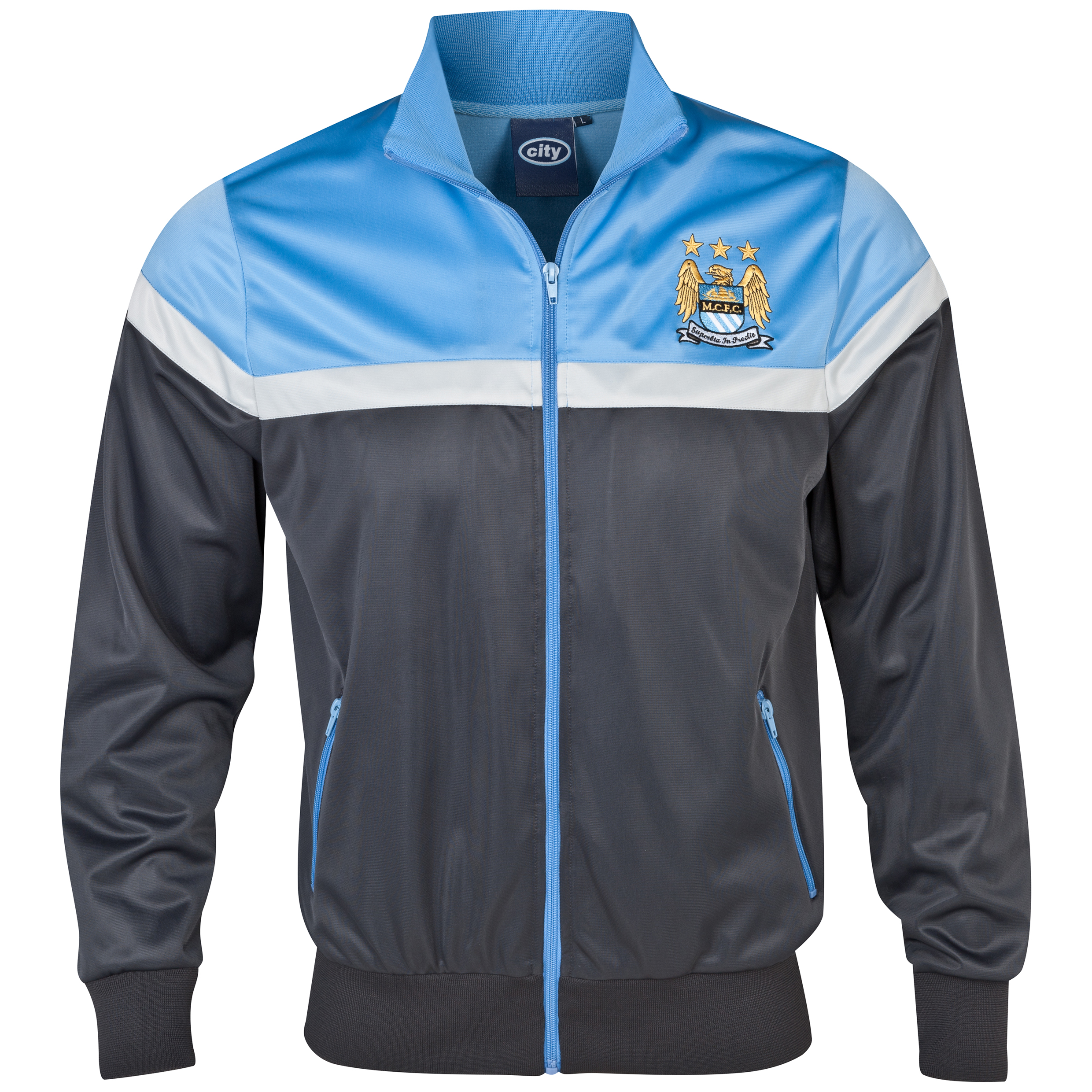 Manchester City Essentials Trio Track Top - Mens Dk Grey