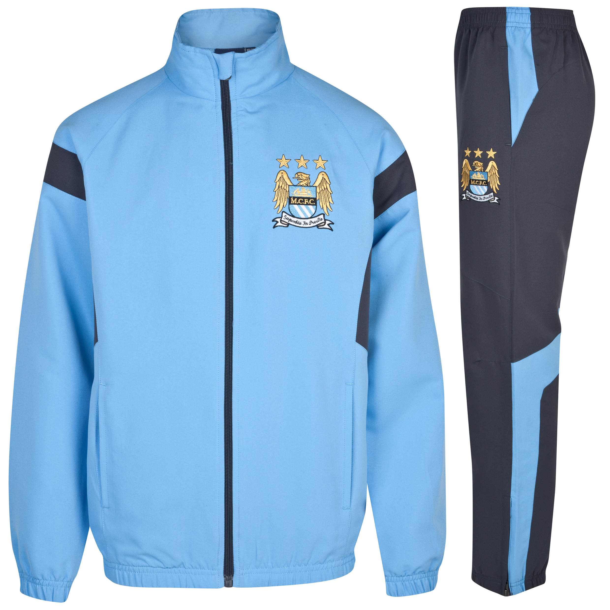 Manchester City Essentials Duo Tracksuit - Older Boys Lt Blue