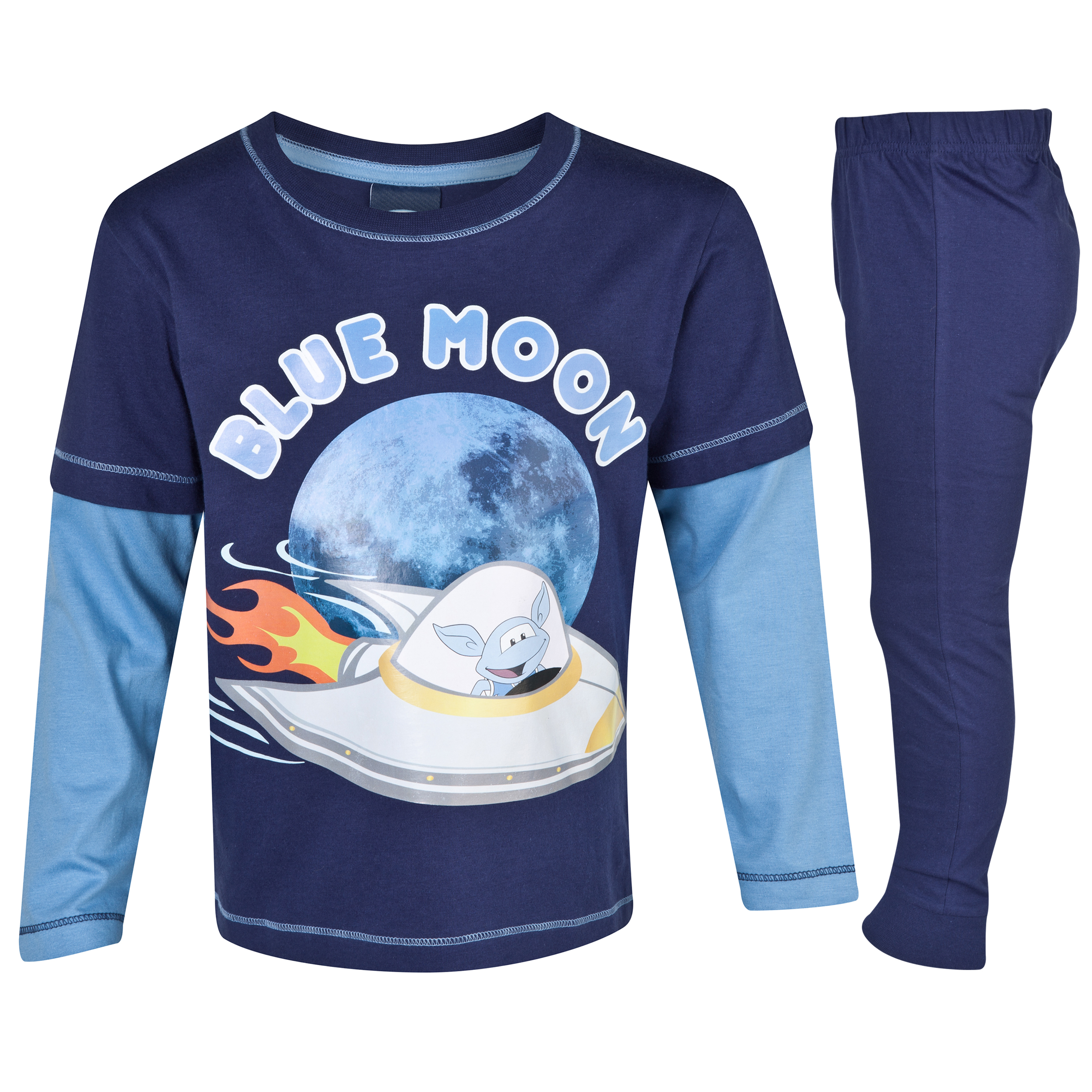 Manchester City Blue Moon Pyjama Infant Boys Navy