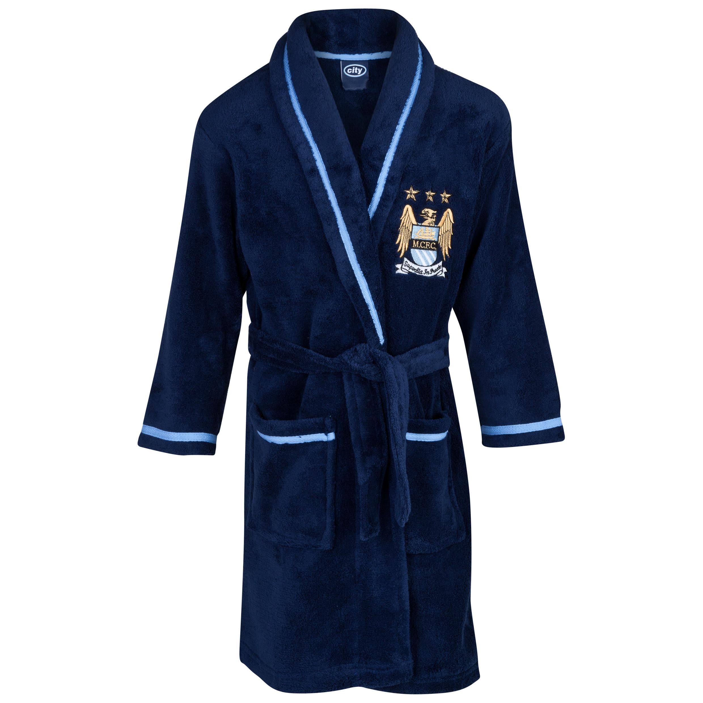 Manchester City Robe Boys Navy